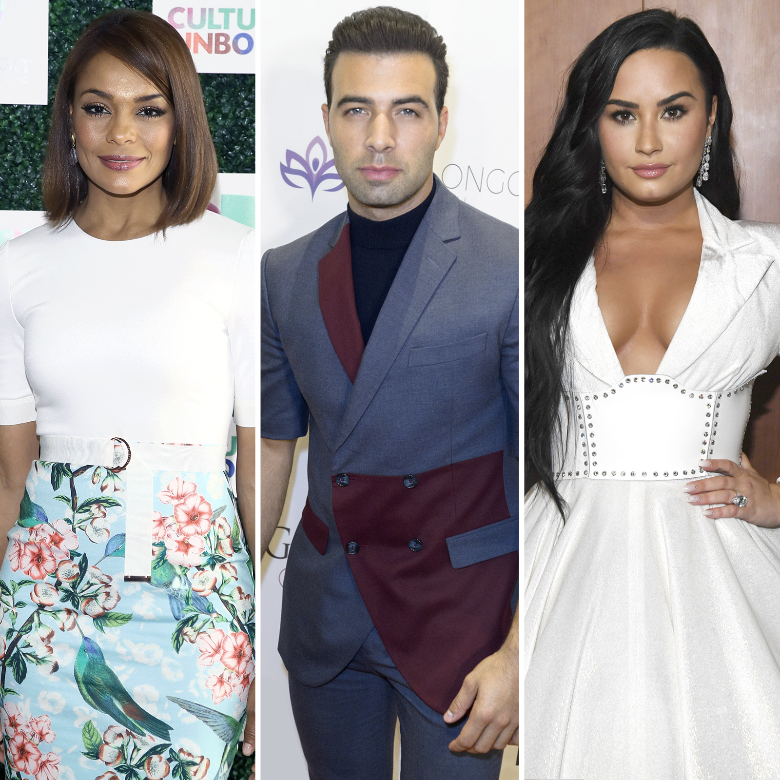 Ilia Calderon, Jencarlos Canela y Demi Lovato
