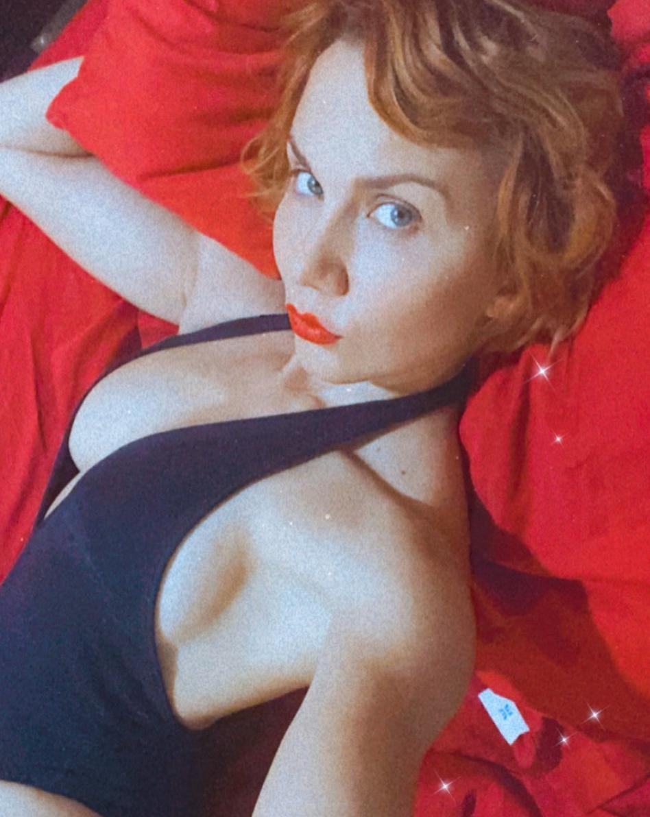 Michelle Vieth sexy labios rojos