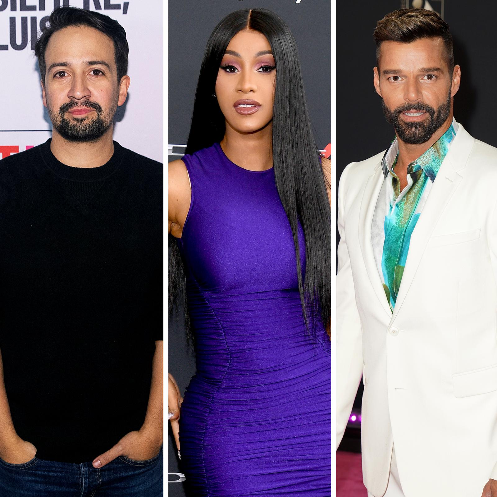Lin Manuel Miranda, Cardi B, Ricky Martin