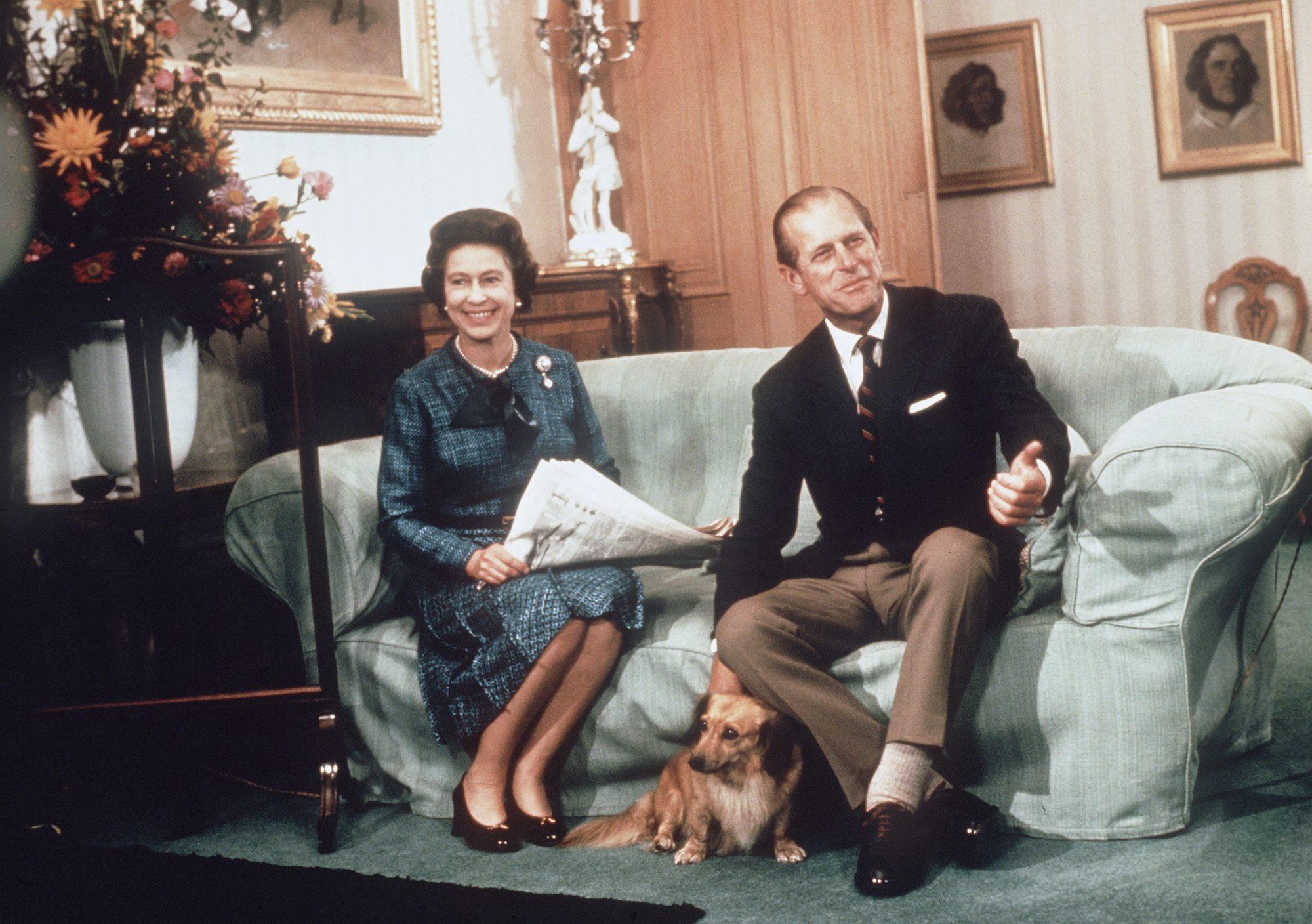 Reina Isabel II, príncipe Felipe de Edimburgo