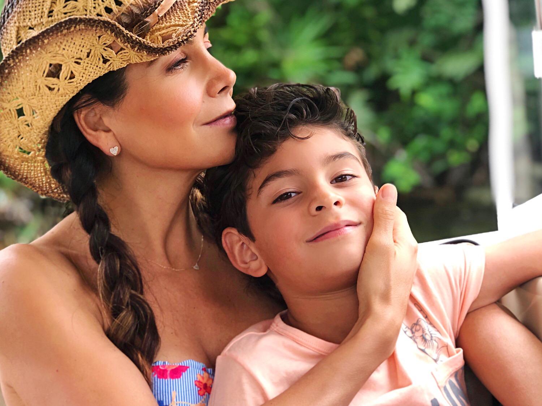 Patricia Manterola y su hijo Lucca
