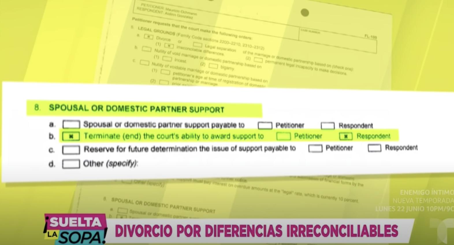 Documentos de divorcio