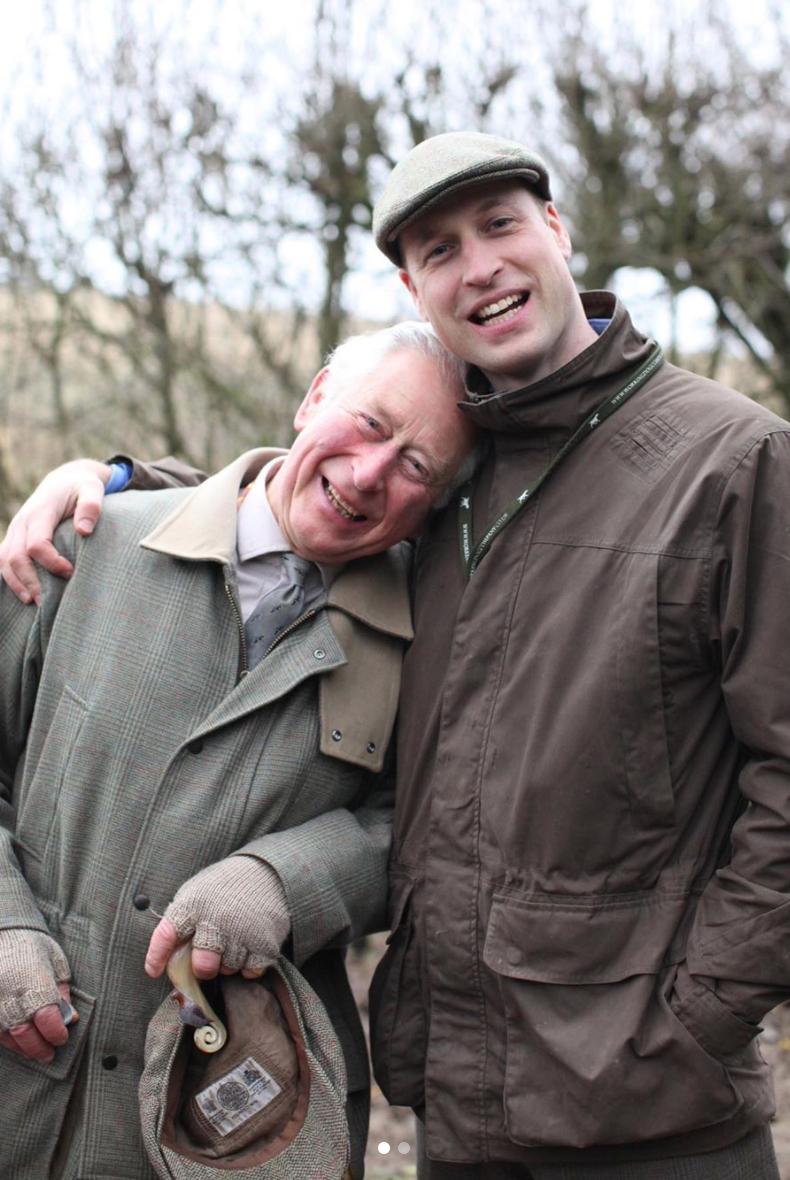 El príncipe William se salta el protocolo para celebrar el Día del Padre