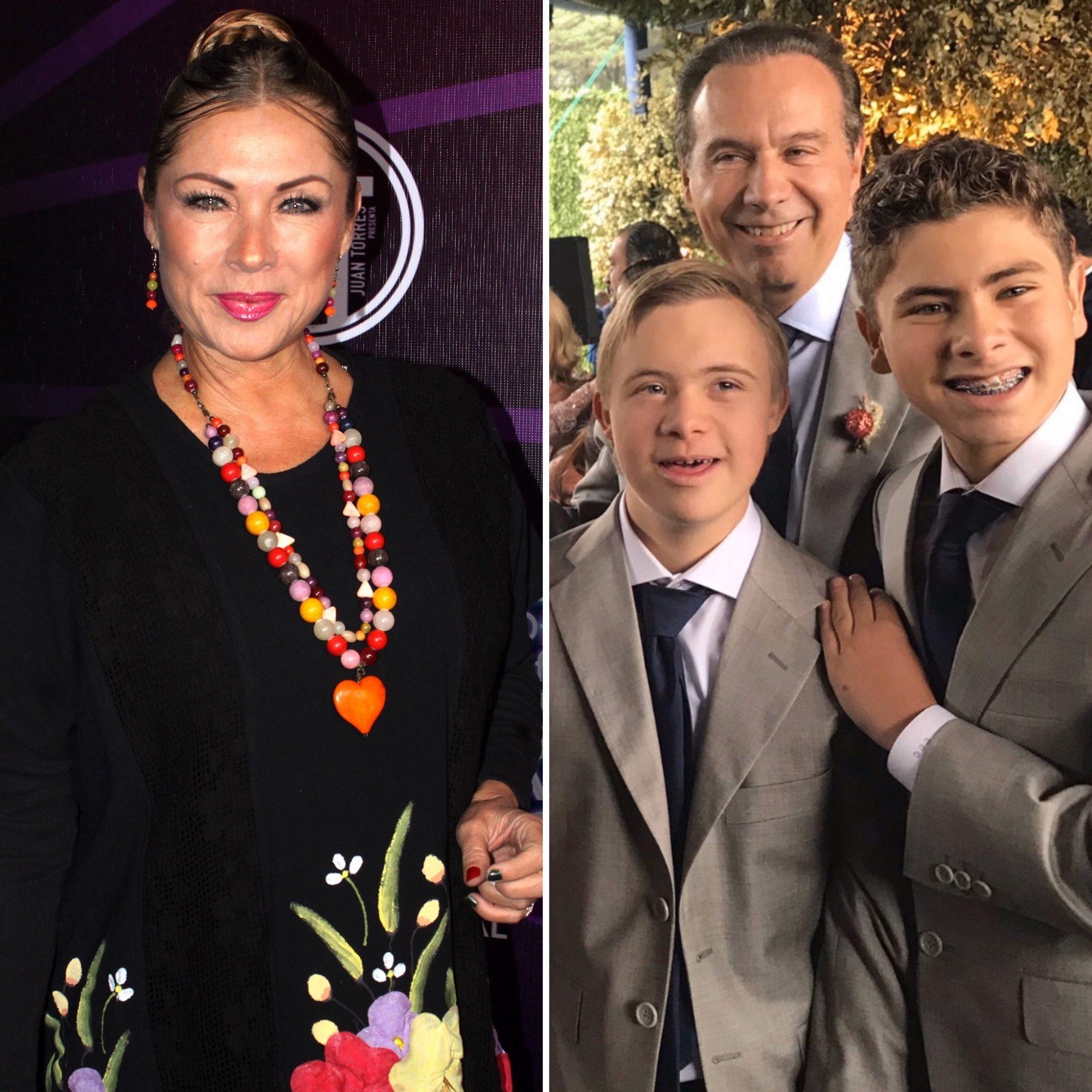 Leticia Calderón, sus hijos y Juan Collado