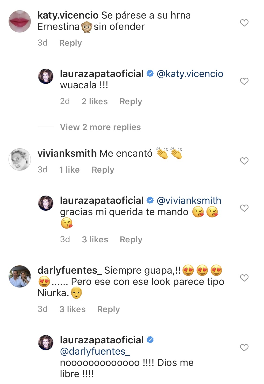 Laura Zapata comentarios