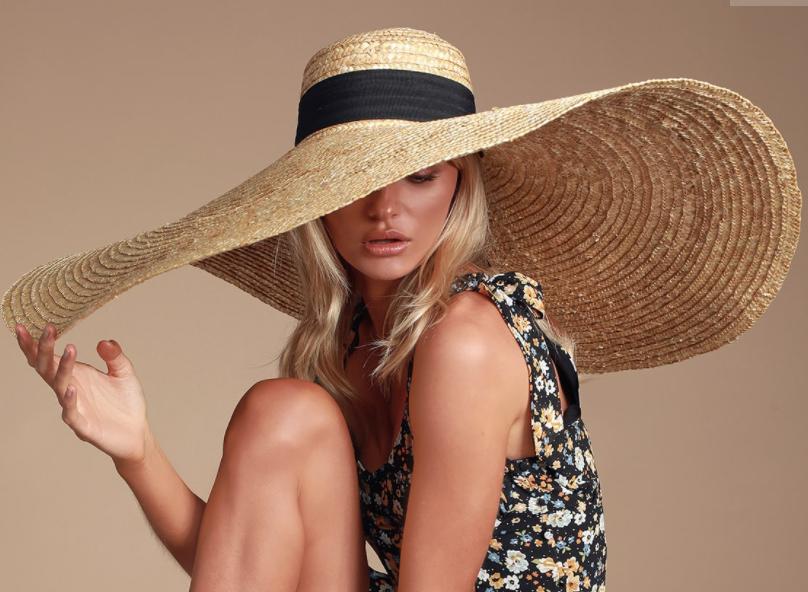 sombrero, oversized, verano, playa, sol