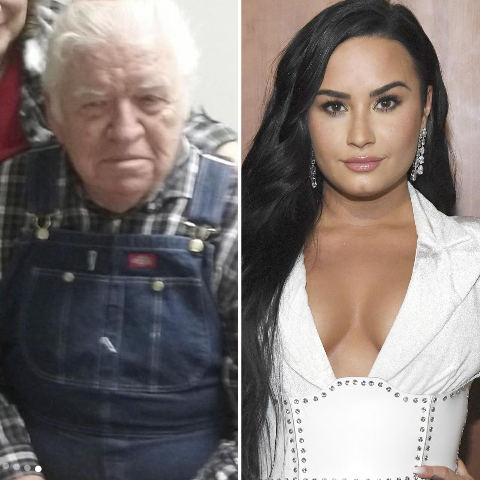 Demi Lovato y su abuelo