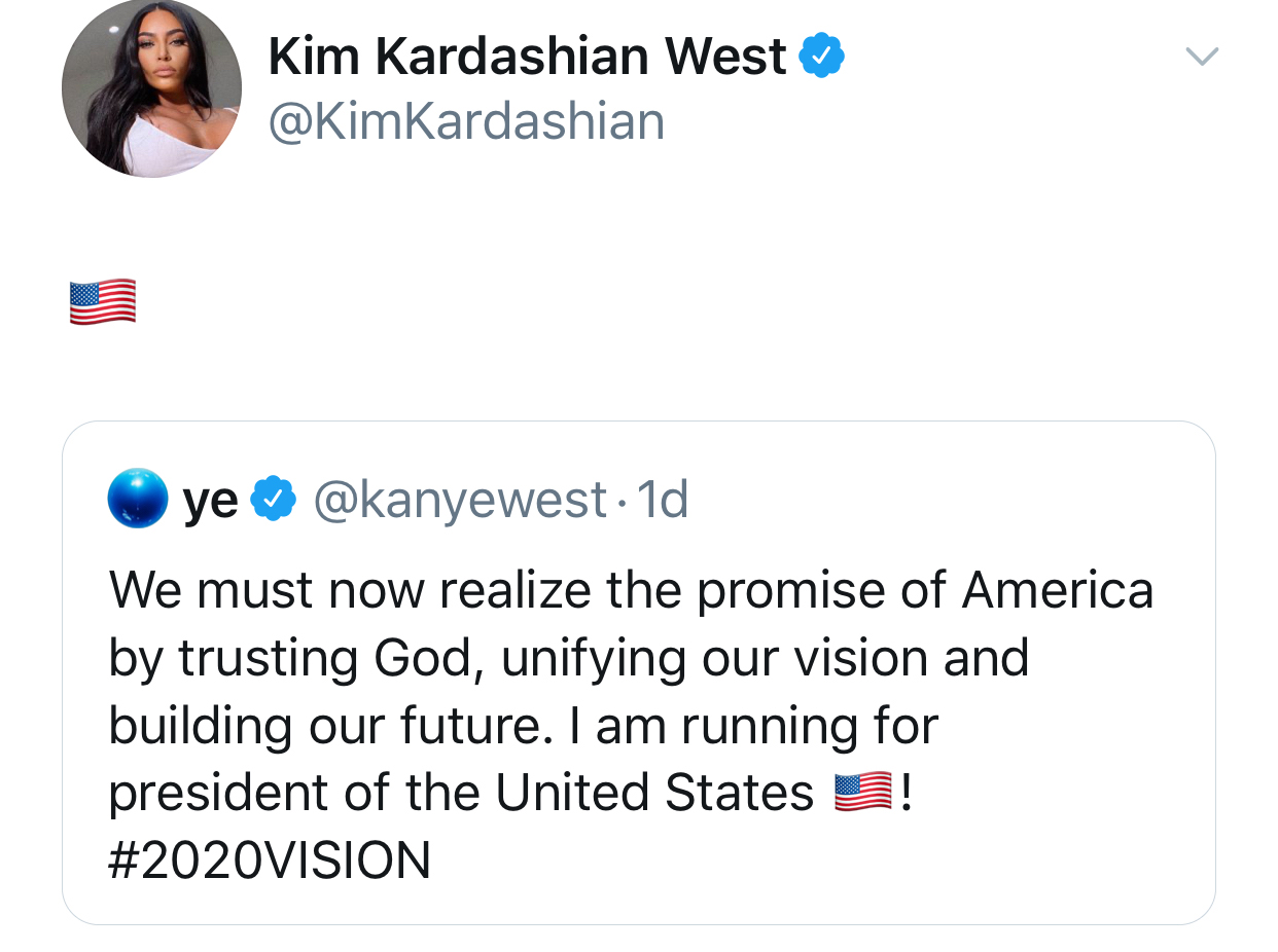 Kim Kardashian President Kanye