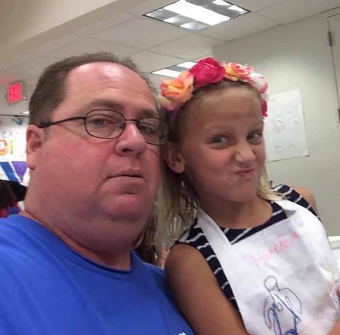 Guy Alexander Hansman and daughter