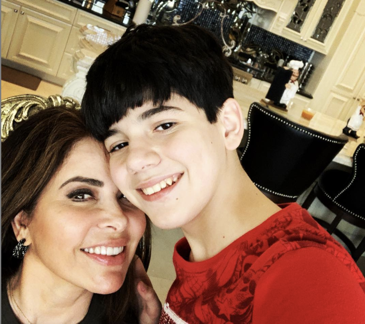 Gloria Trevi y su hijo Miguel Armando