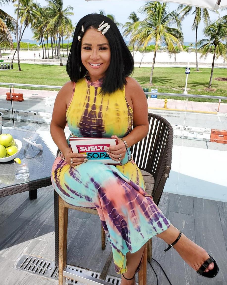 Carolina Sandoval, look, suelta la sopa, playa