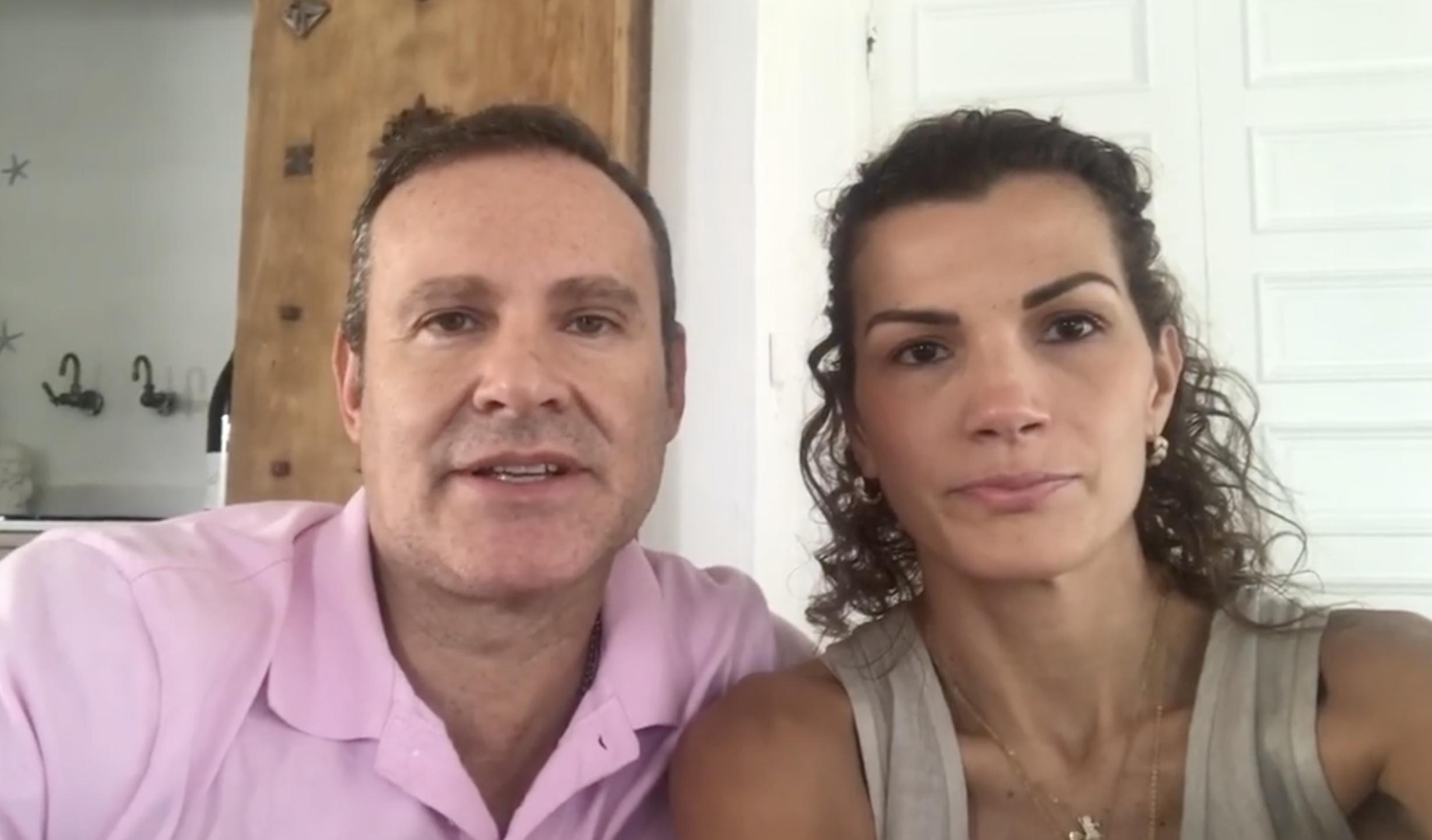 Alan Tacher y su esposa