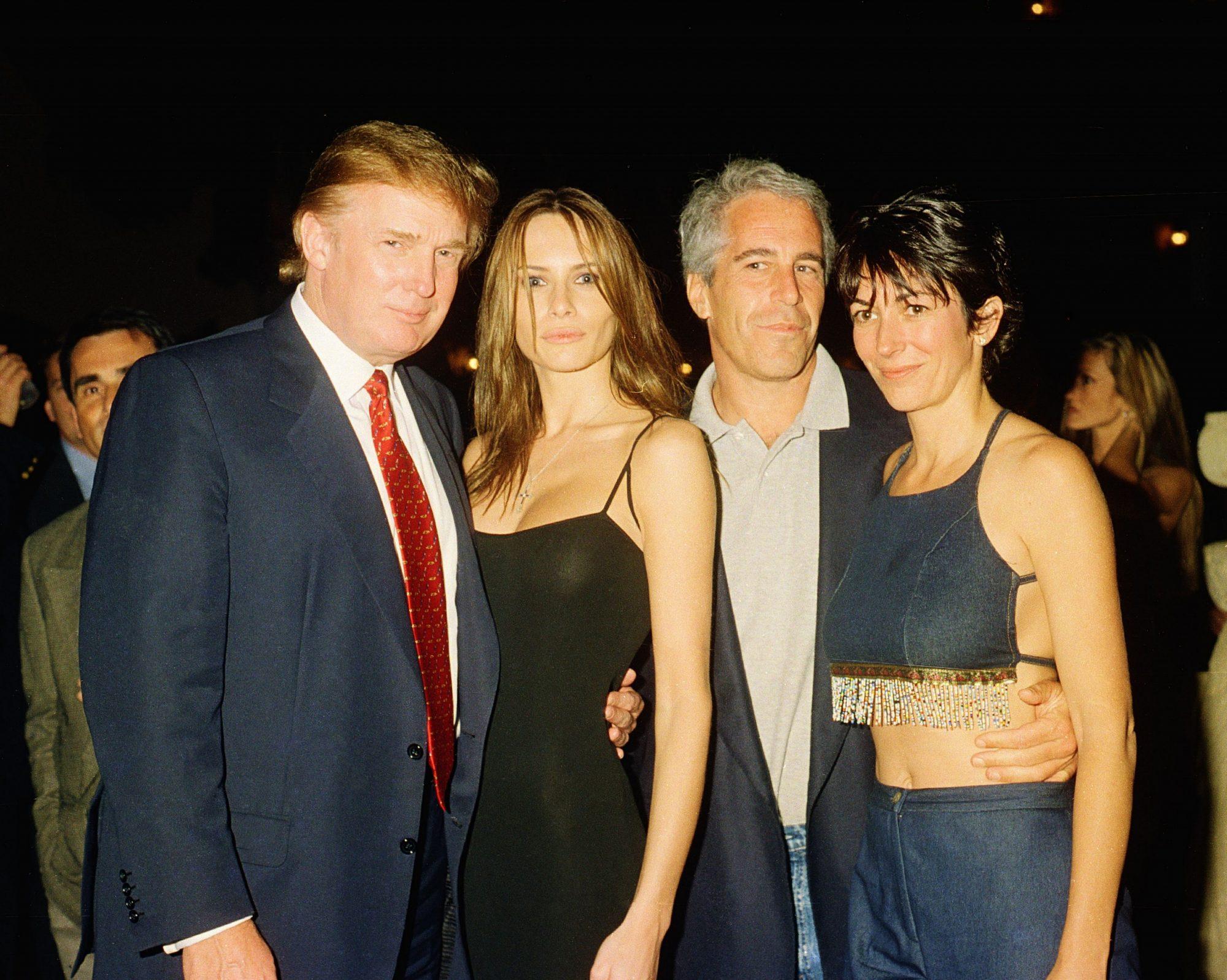 Donald Trump, Melania Knauss, Jeffrey Epstein, Ghislaine Maxwell