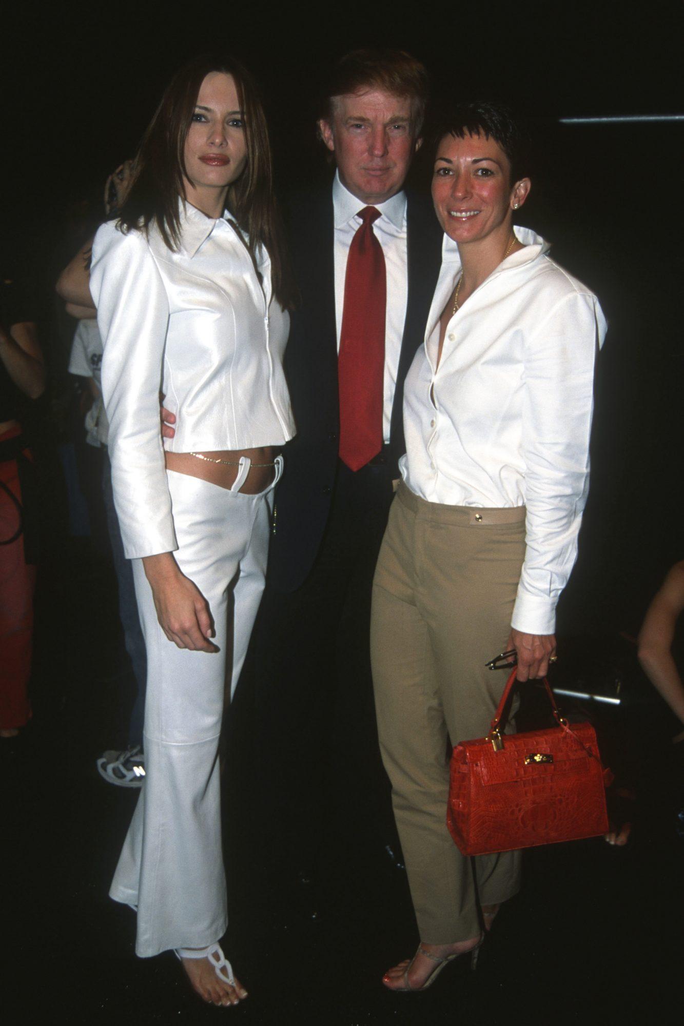 Donald Trump, Melania Trump and Ghislaine Maxwell