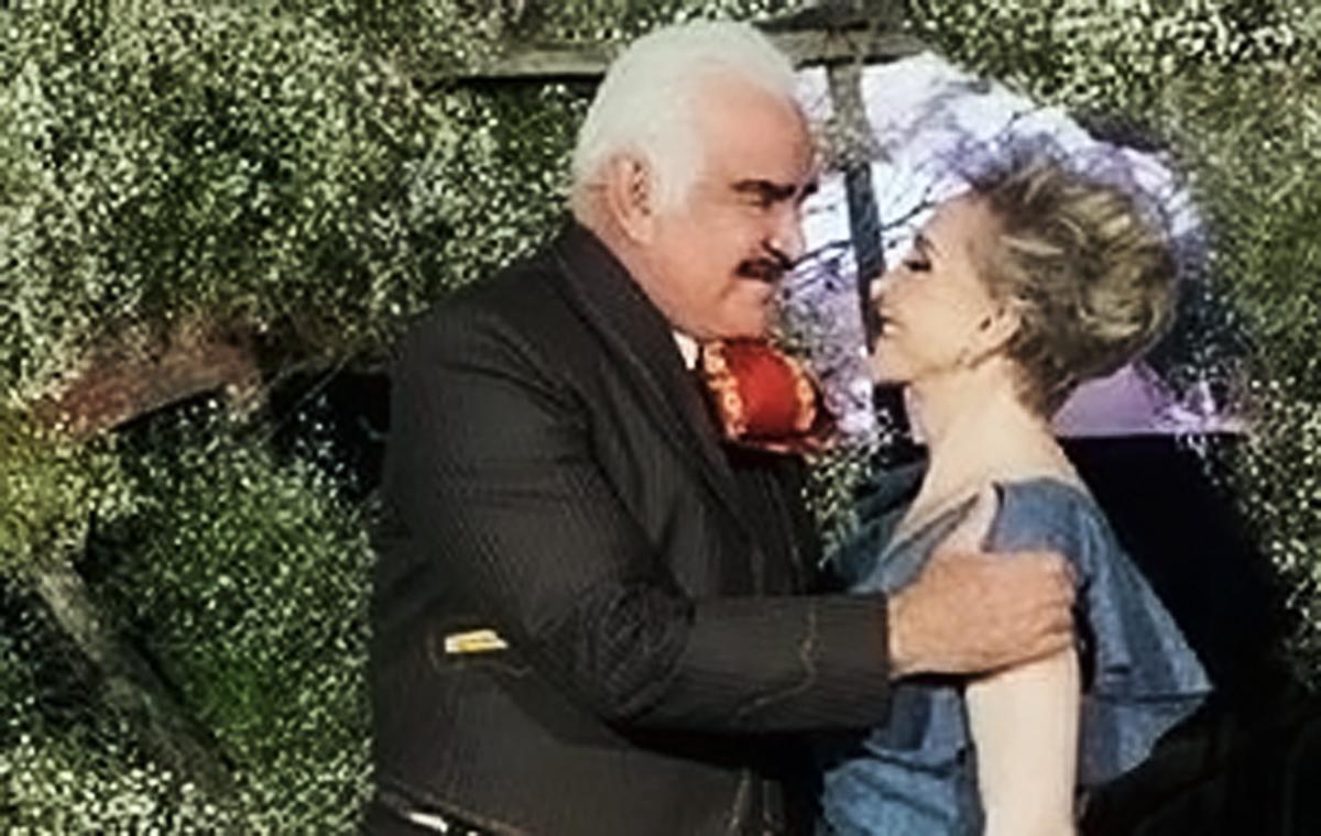 Vicente Fernandez y su esposa Cuca