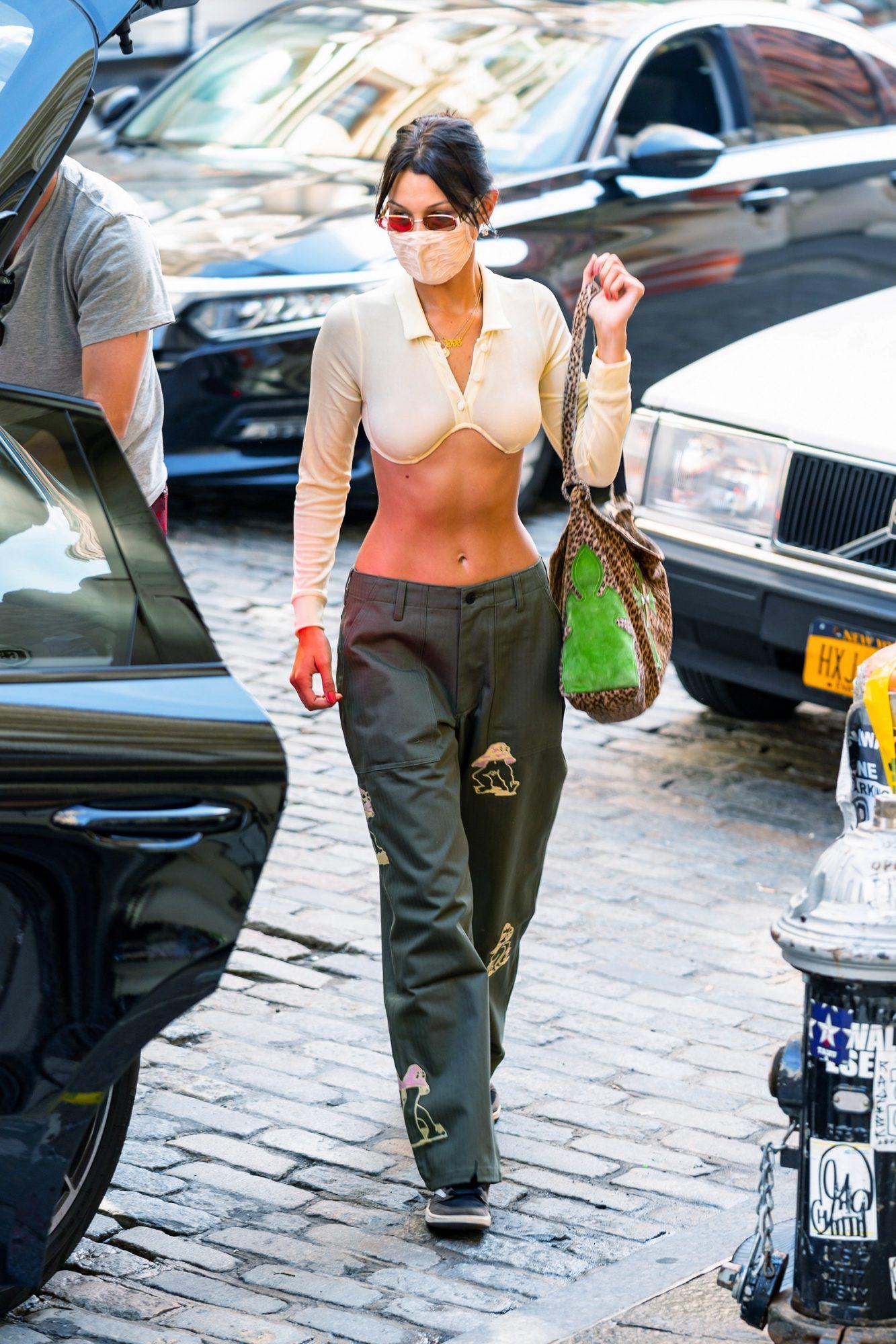 Bella Hadid, look, new york