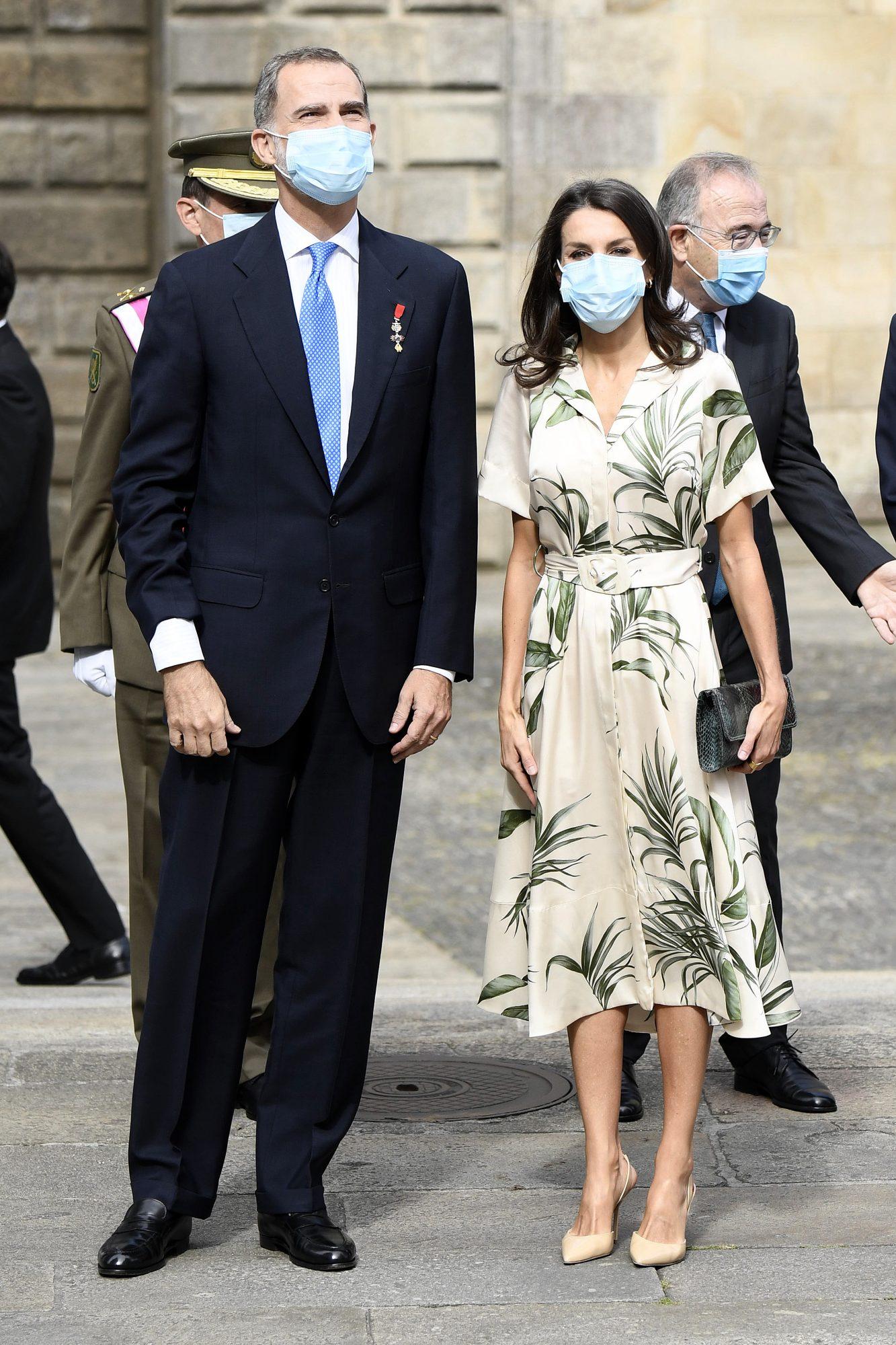 Reina Letizia, look, espana, santiago de compostela