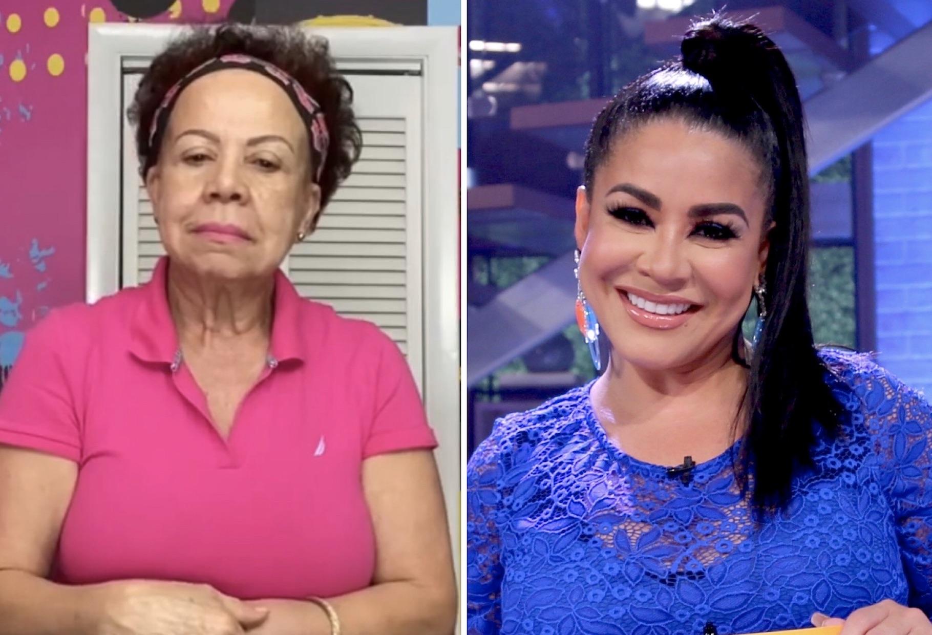 Carolina Sandoval y su madre