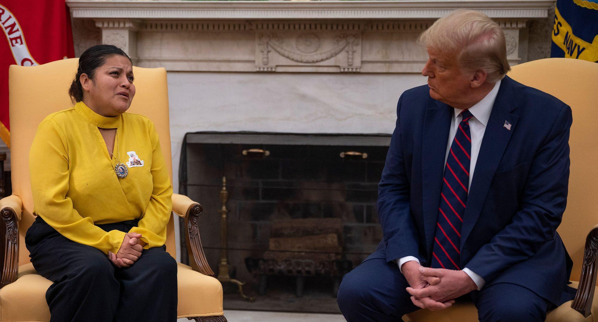 Gloria Guillen y Donald Trump
