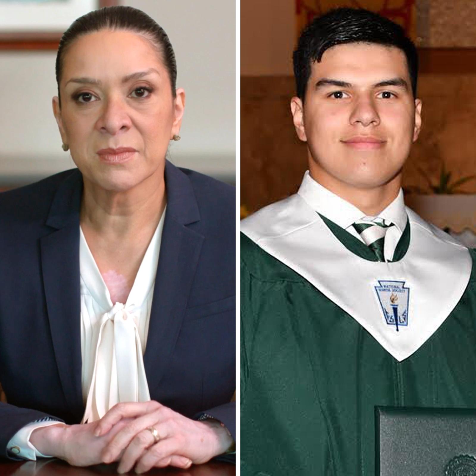 Esther Salas y su hijo Daniel Anderl