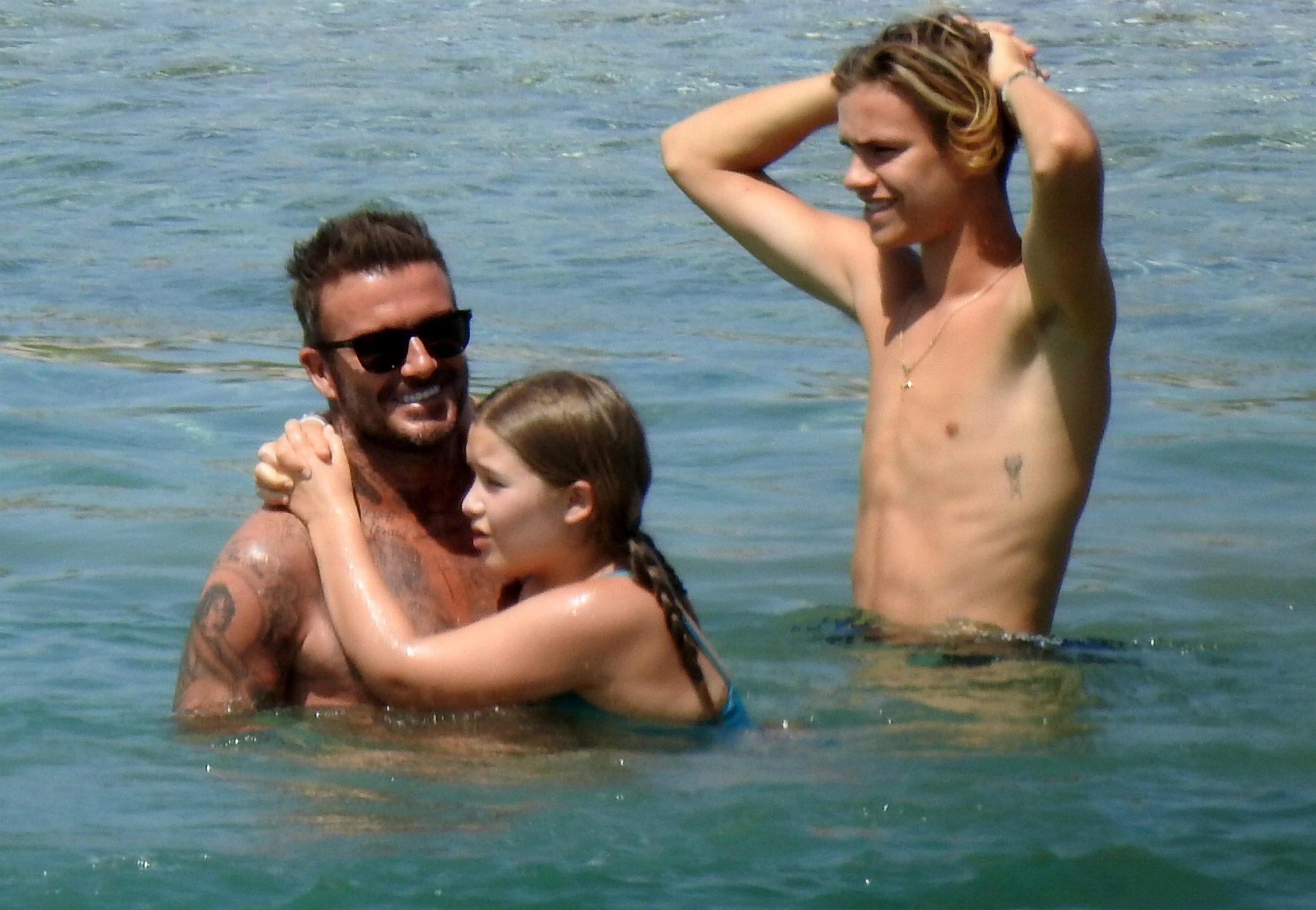 David Beckham hija playa