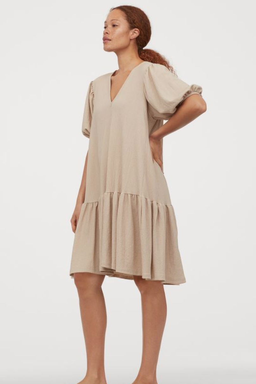 vestidos, mangas tipo globo, mangas abullonadas, vestidos, verano