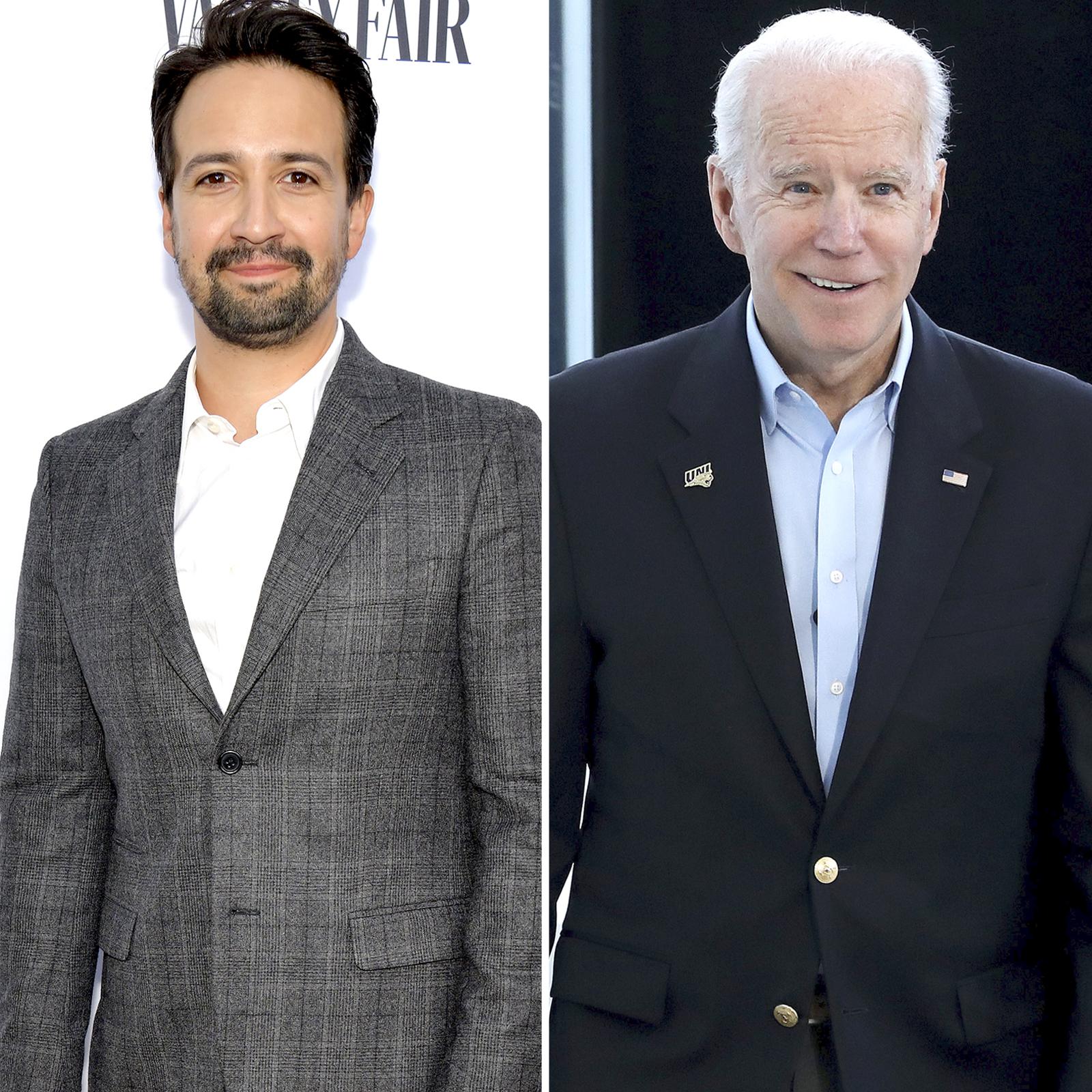Lin-Manuel Miranda y Joe Biden