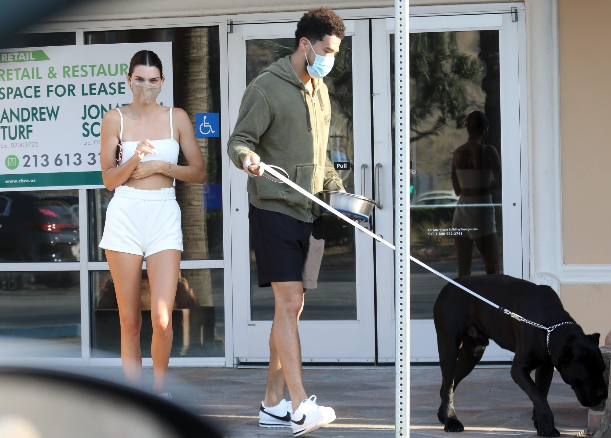 Kendall Jenner and rumored new boyfriend Devin Booker seen leaving a pet shop in Malibu while out running errands together