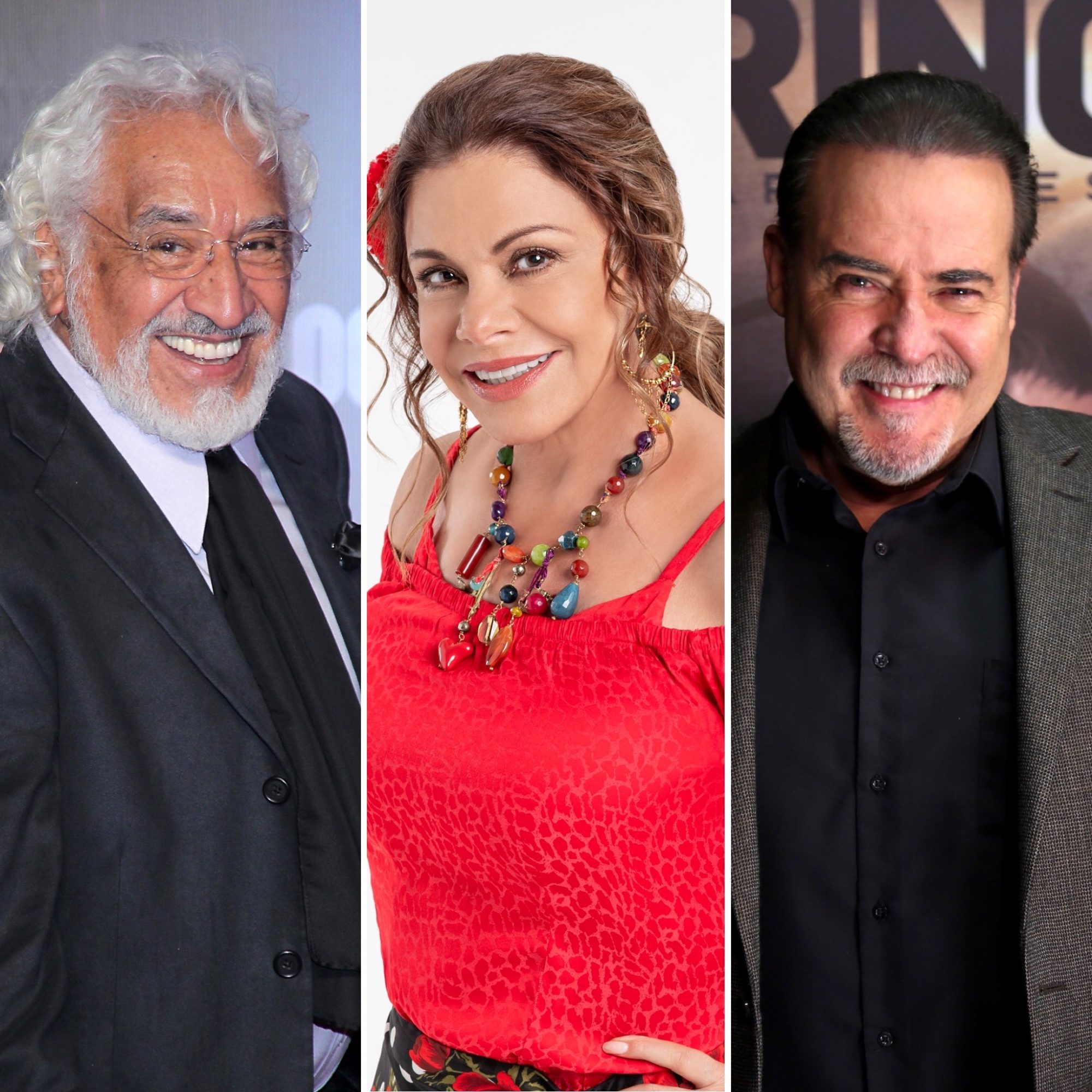 Rafael Inclán, María Sorté y César Évora