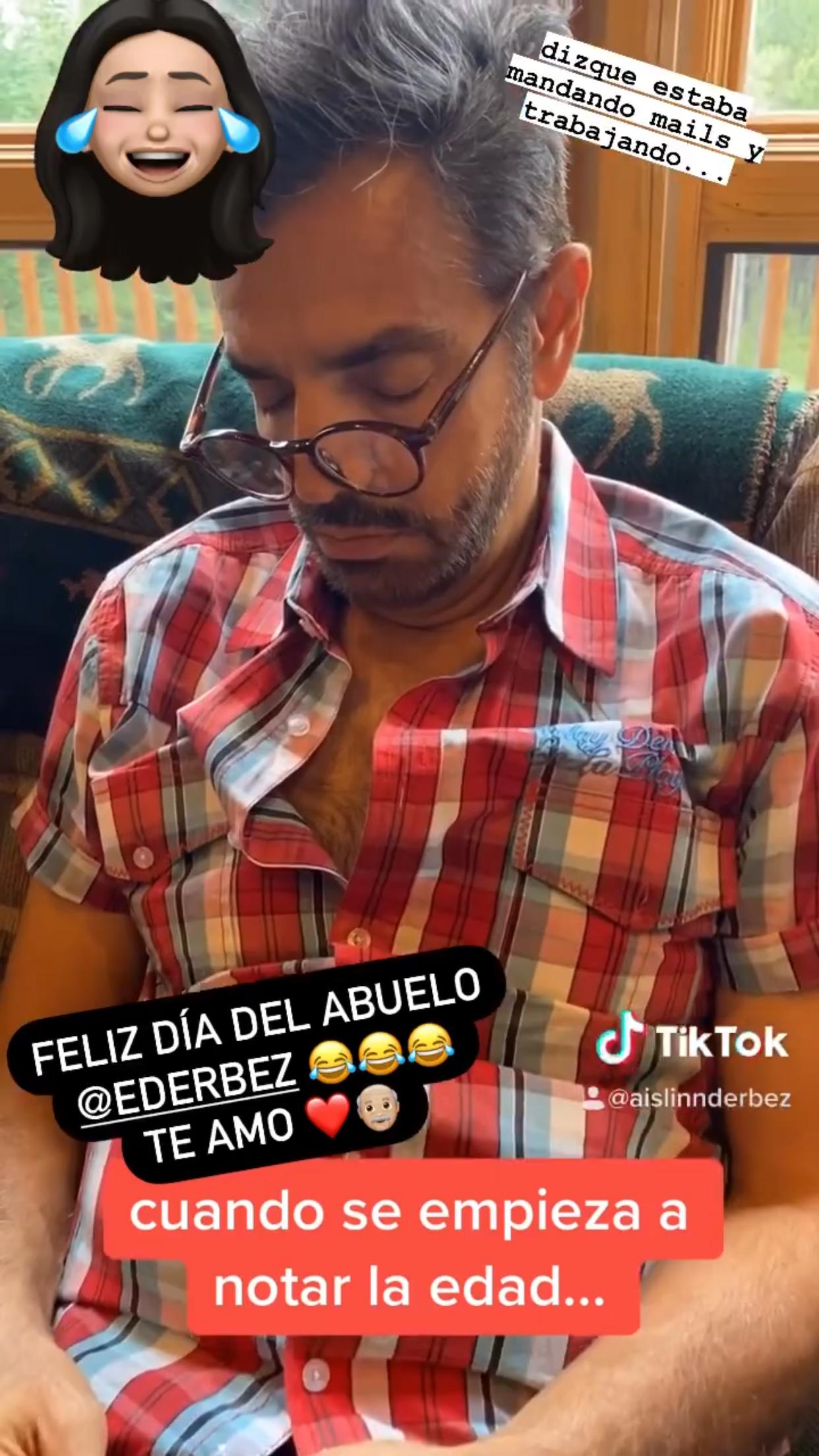 Eugenio Derbez dormido broma Aislinn