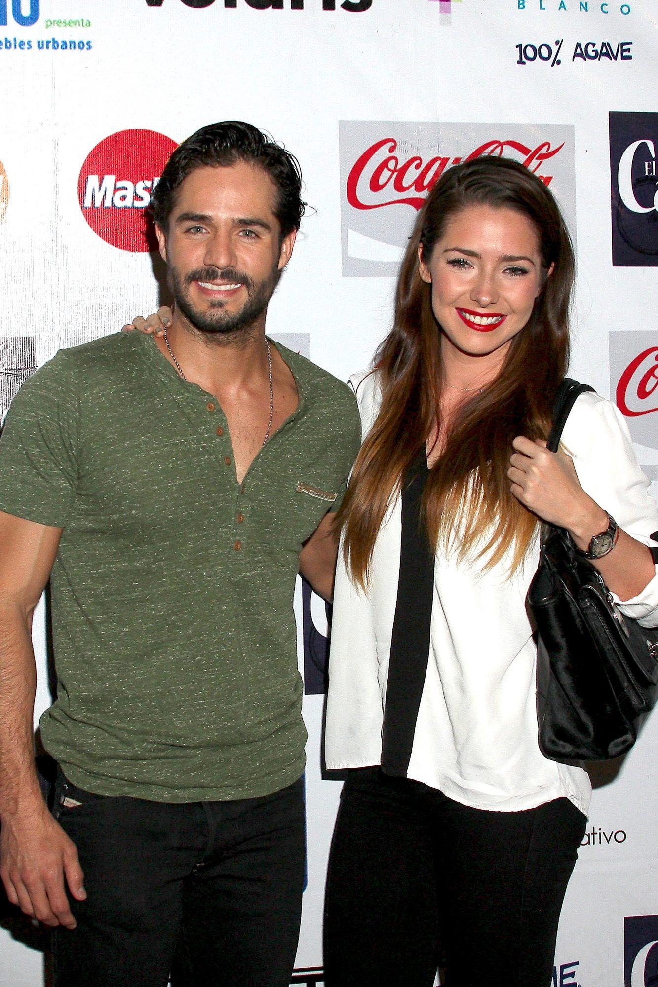 Ariadne Díaz y José Ron