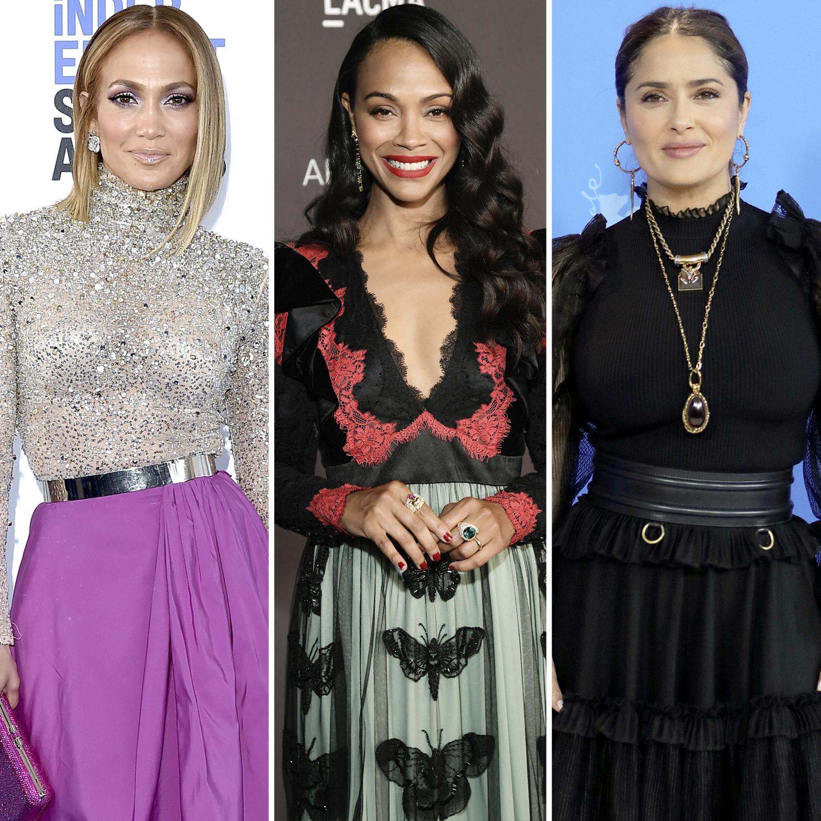 Jennifer Lopez, Zoe Saldana y Salma Hayek