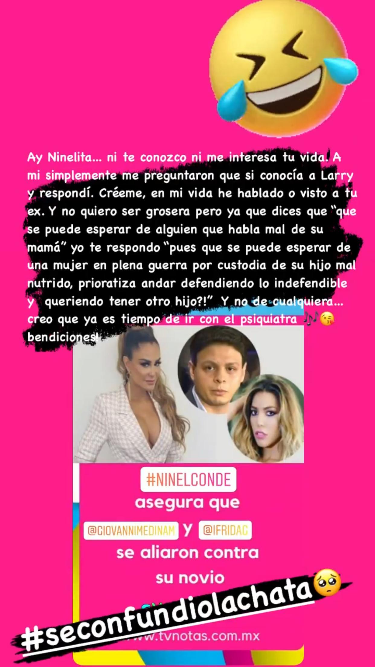 Frida Sofia Ninel Conde pelea