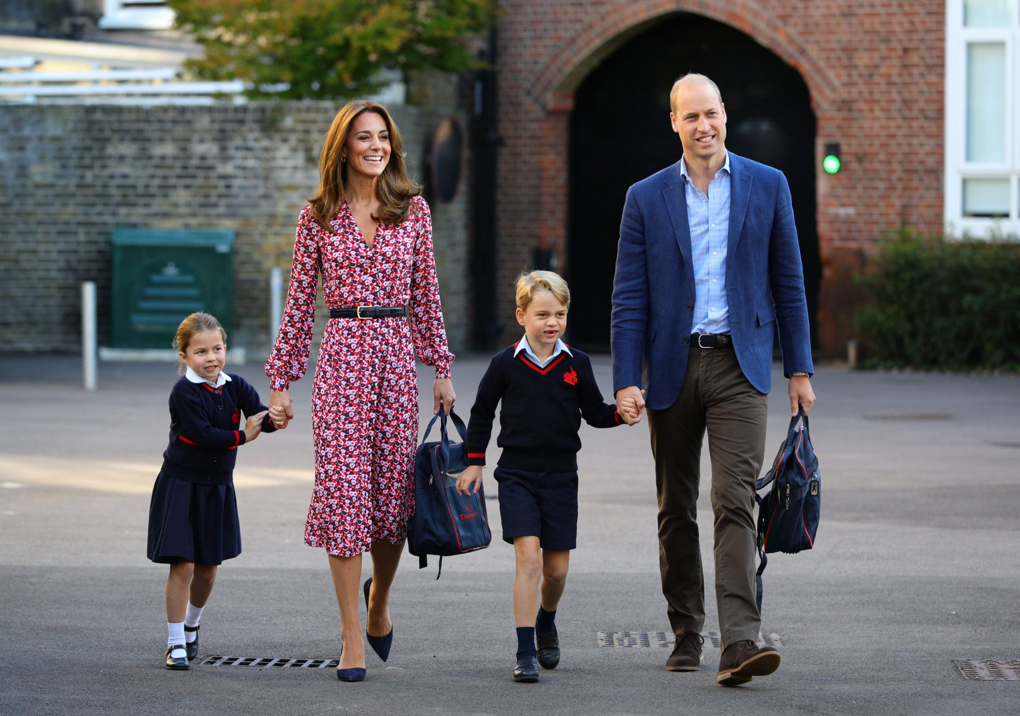 Princess Charlotte, Duke of Cambridge, Duchess of Cambridge and Prince George