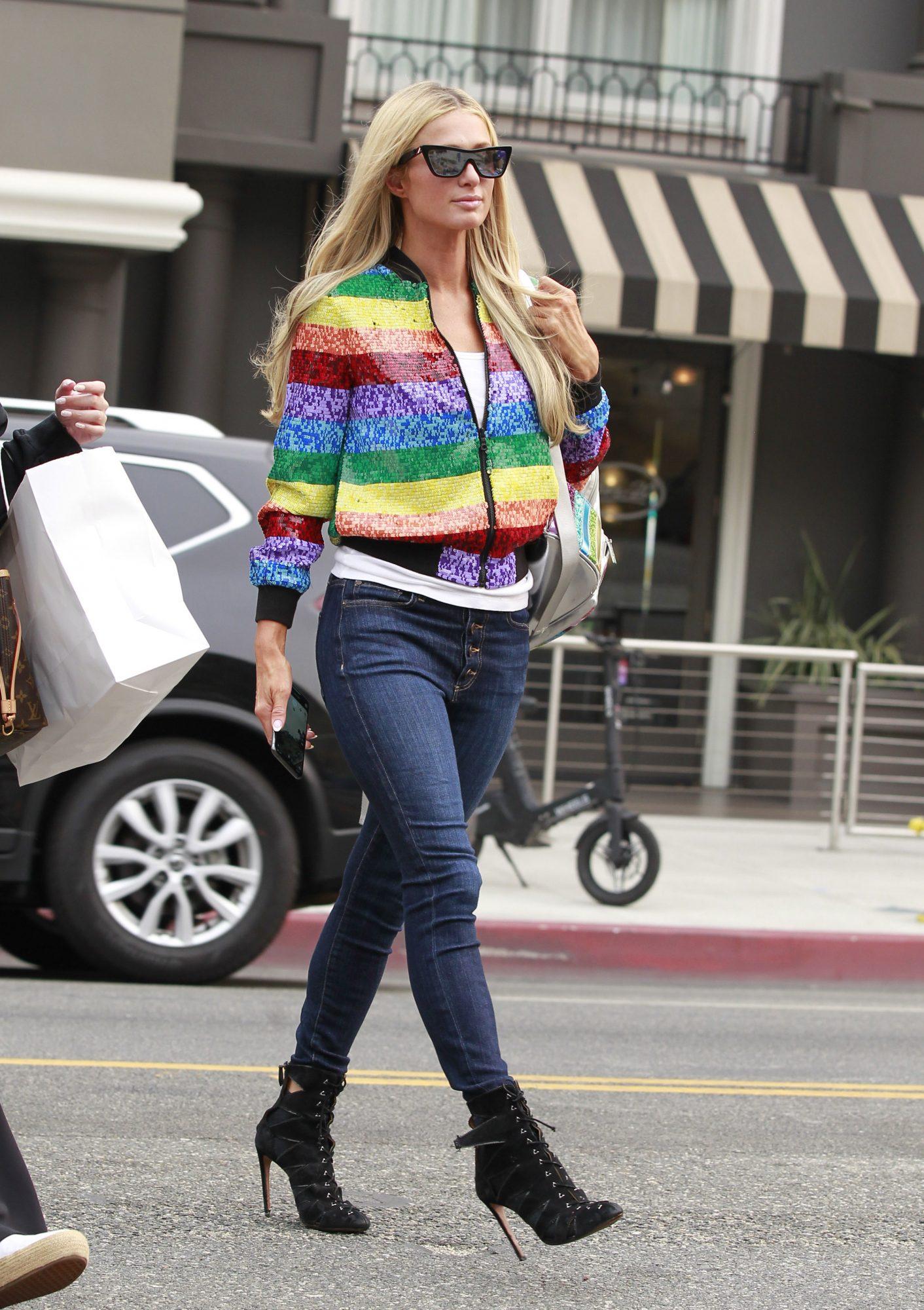 Paris Hilton, look, streetstyle