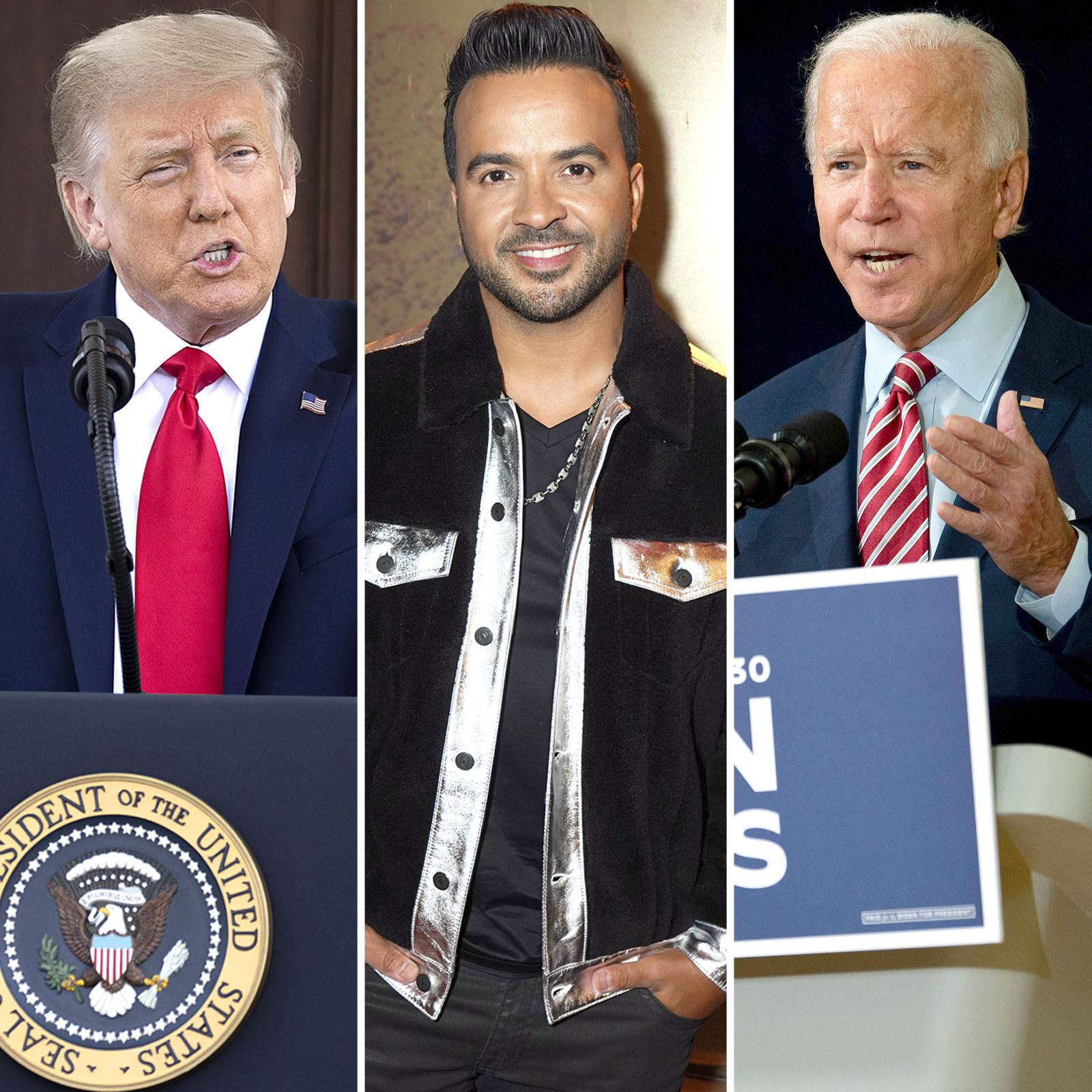 Donald Trump, Luis Fonsi y Joe Biden