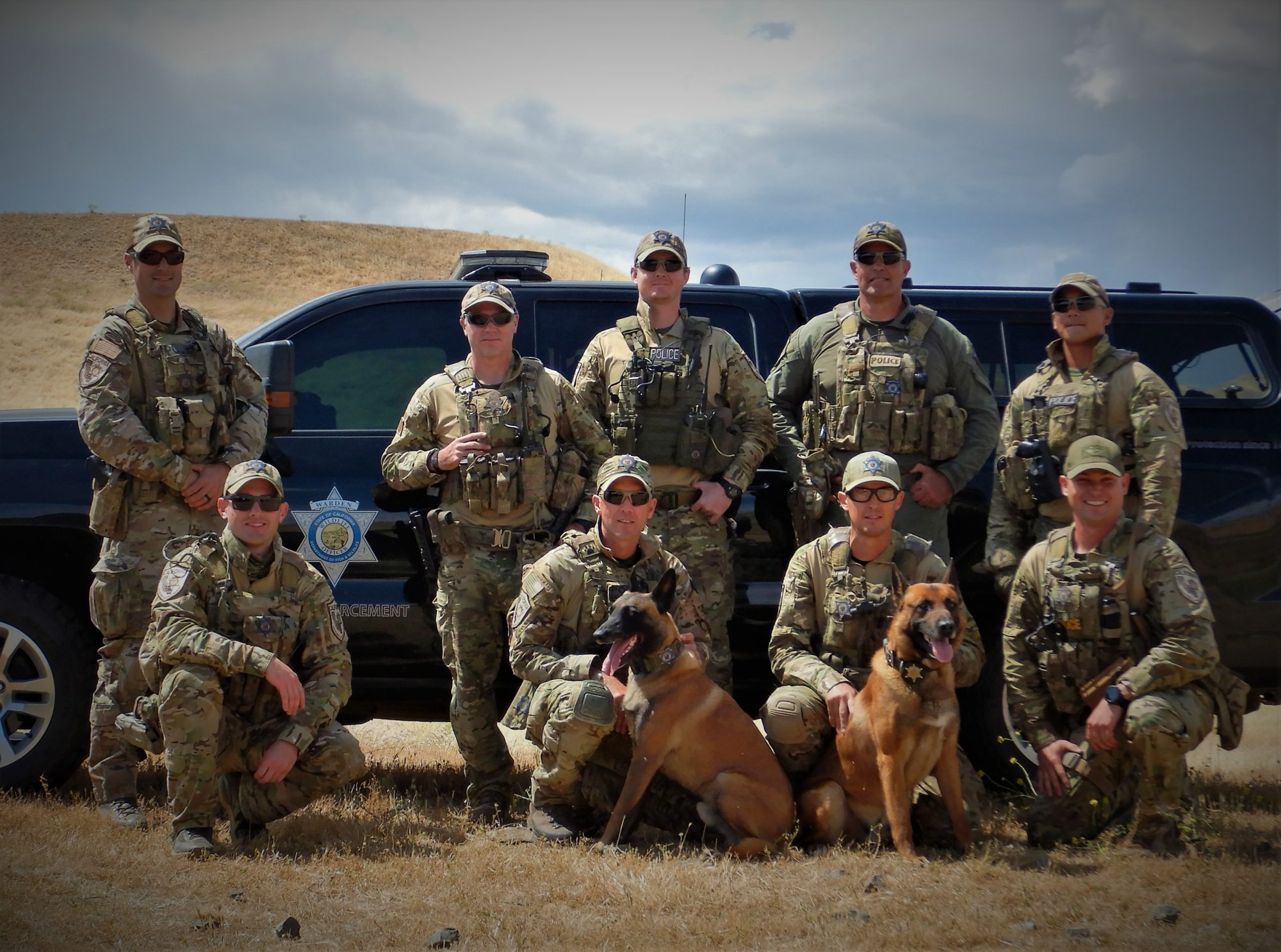 California Department of Fish and Wildlife teams with Beedo and Champ that helped track Jack