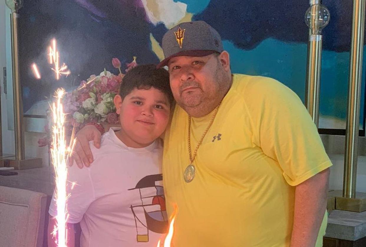 José Ángel Ledesma Quintero El Coyote y su hijo