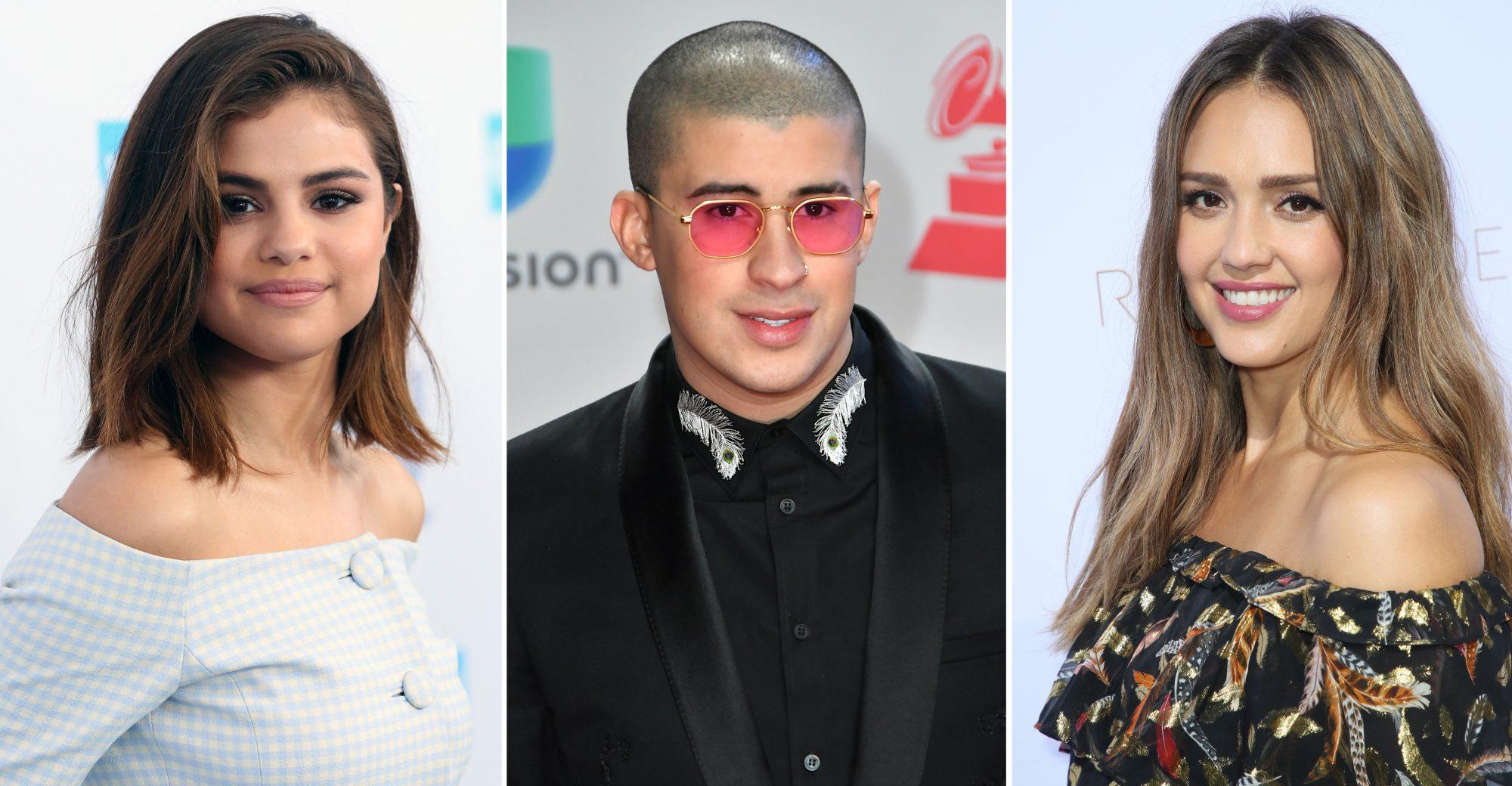 Selena Gómez, Bad Bunny y Jessica Alba.