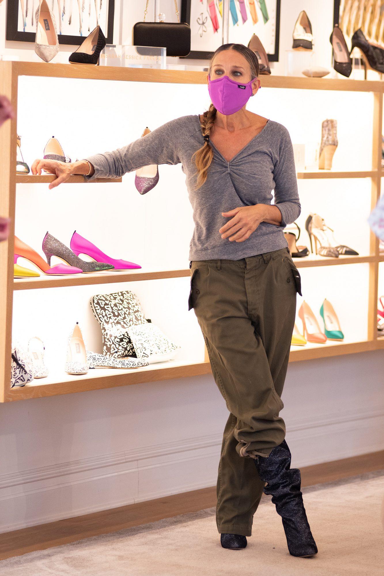 Sarah Jessica Parker, look, tienda de zapatos, new york