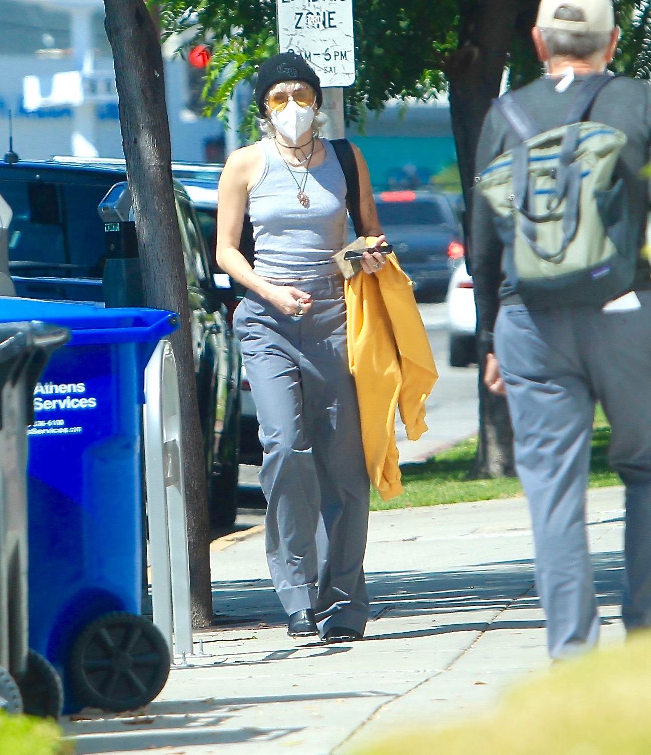 Miley Cyrus, look, los angeles, streetstyle
