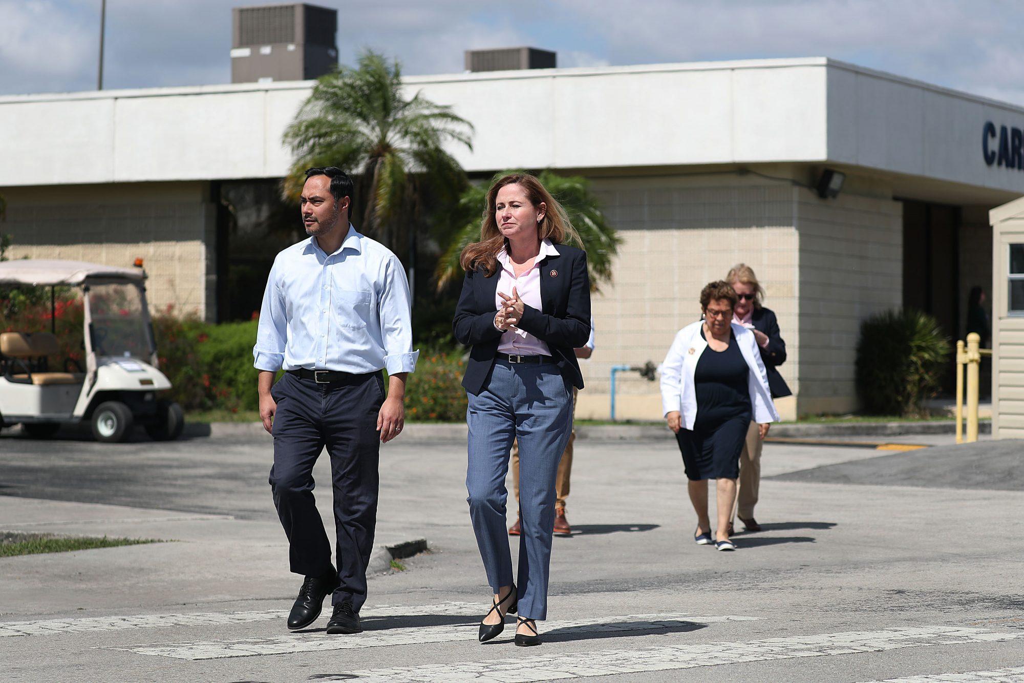 Debbie Mucarsel-Powell and Joaquin Castro