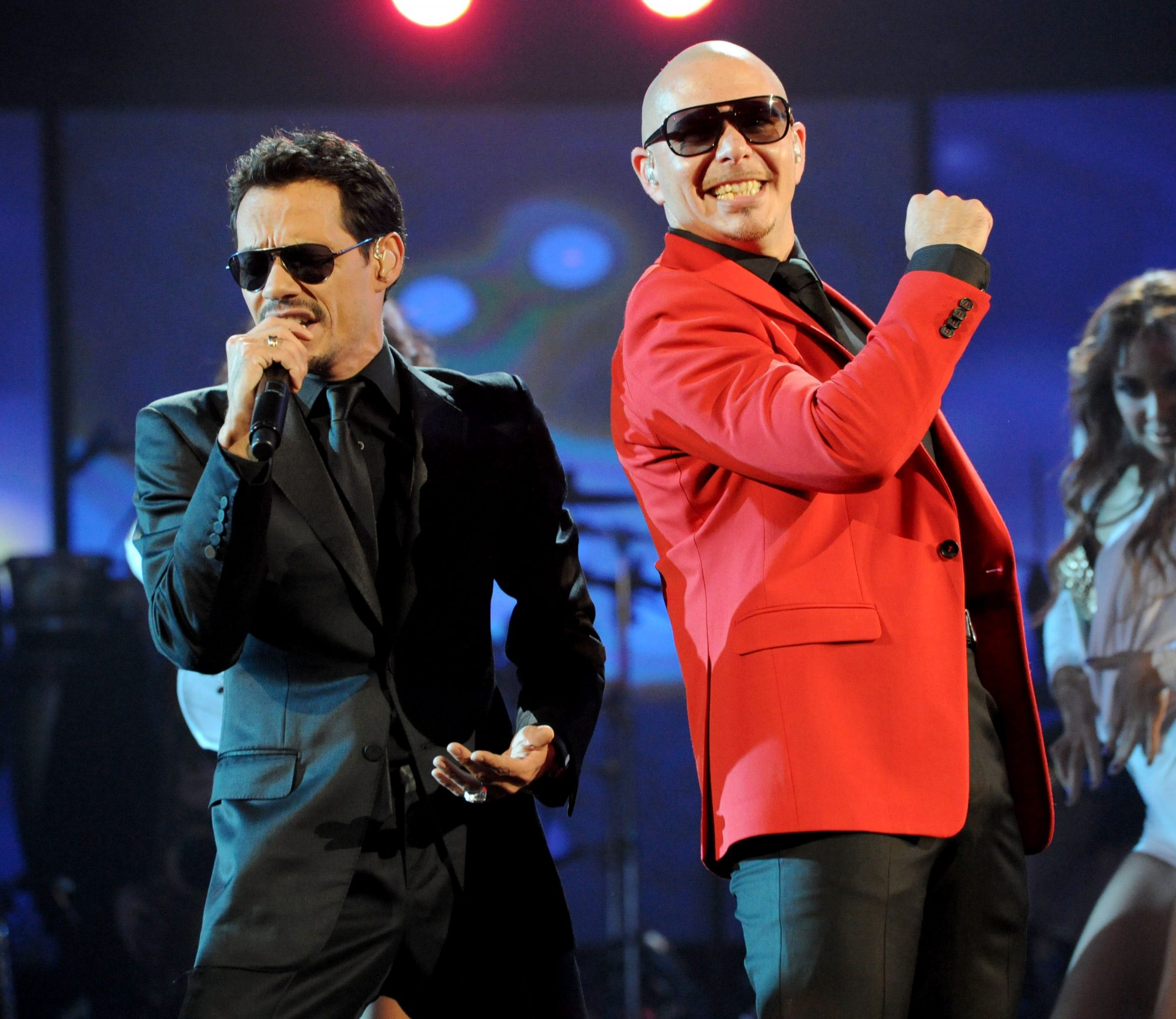Pitbull and Marc Anthony