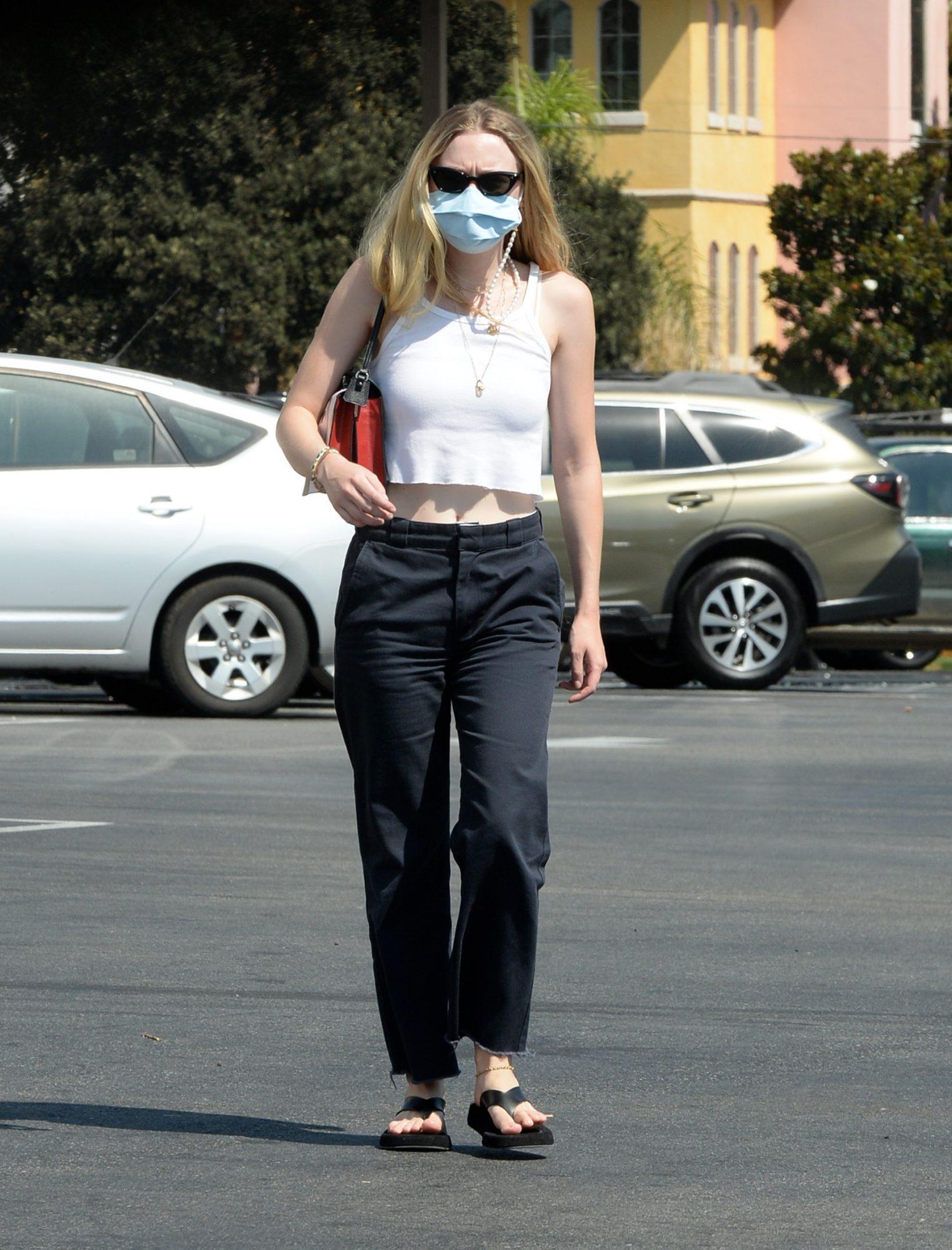 Dakota Fanning, look, streetstyle,