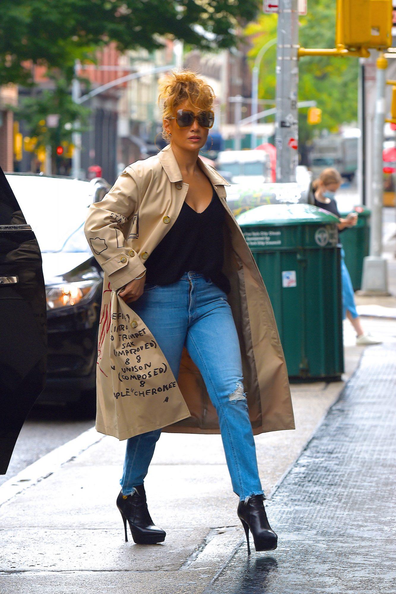 JLo, Jennifer Lopez, look, streetstyle, otoño