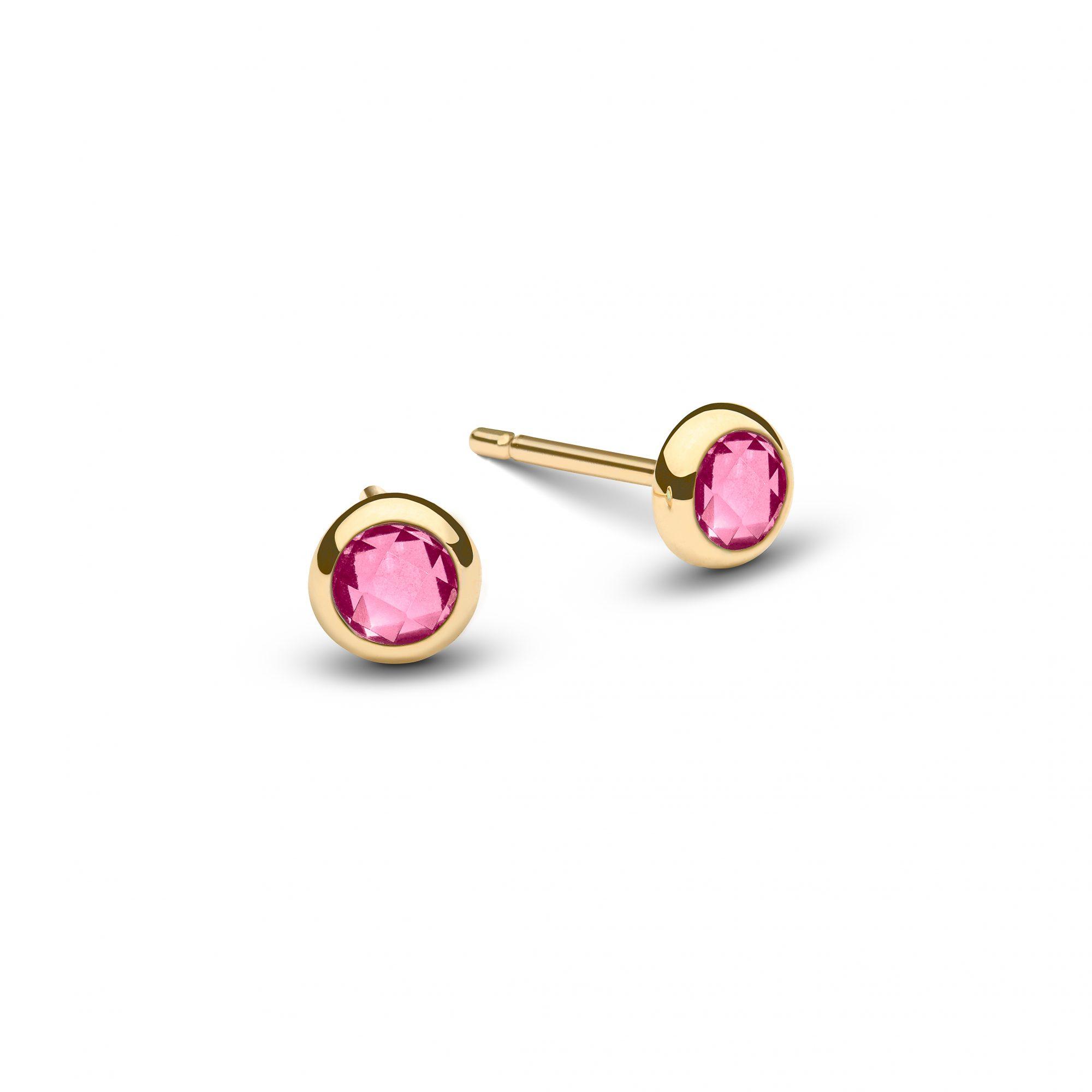 gold earrings, cancer awareness earrings