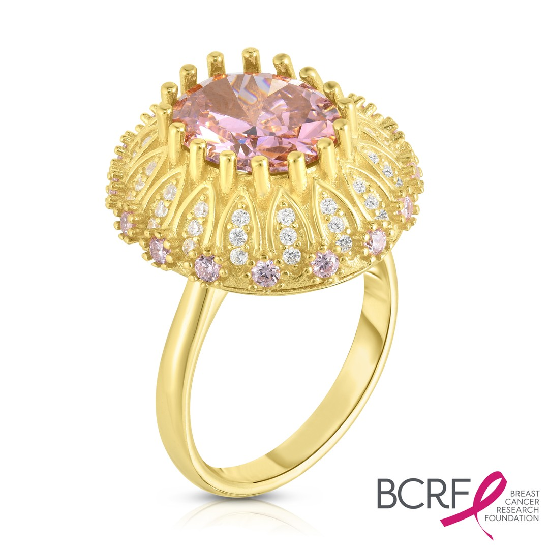 gold ring, cancer awareness ring