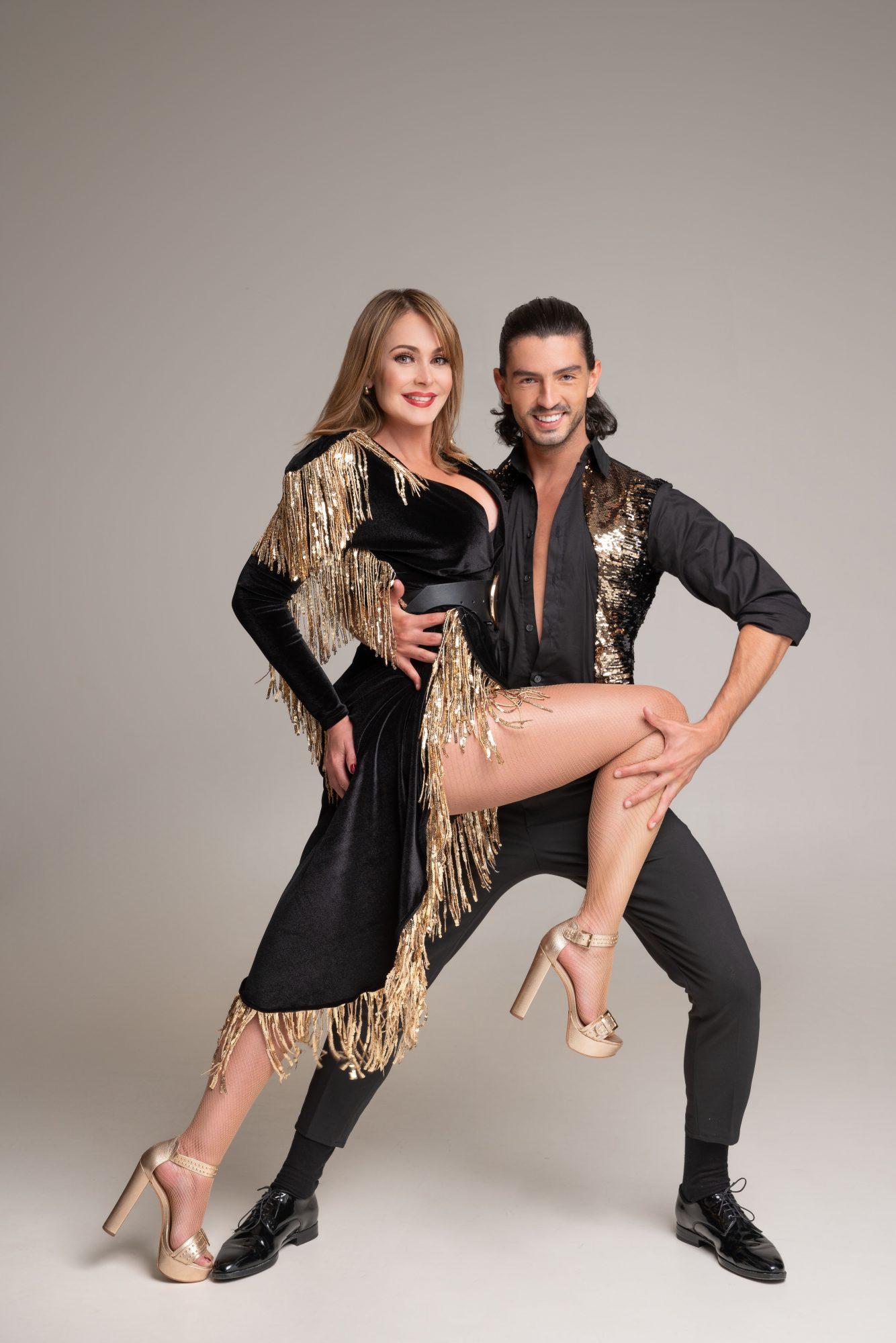 Gaby Spanic y su bailarín Andrei Mangra