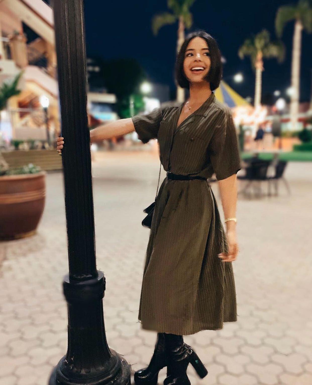 Angela Aguilar, vestido verde, fashion