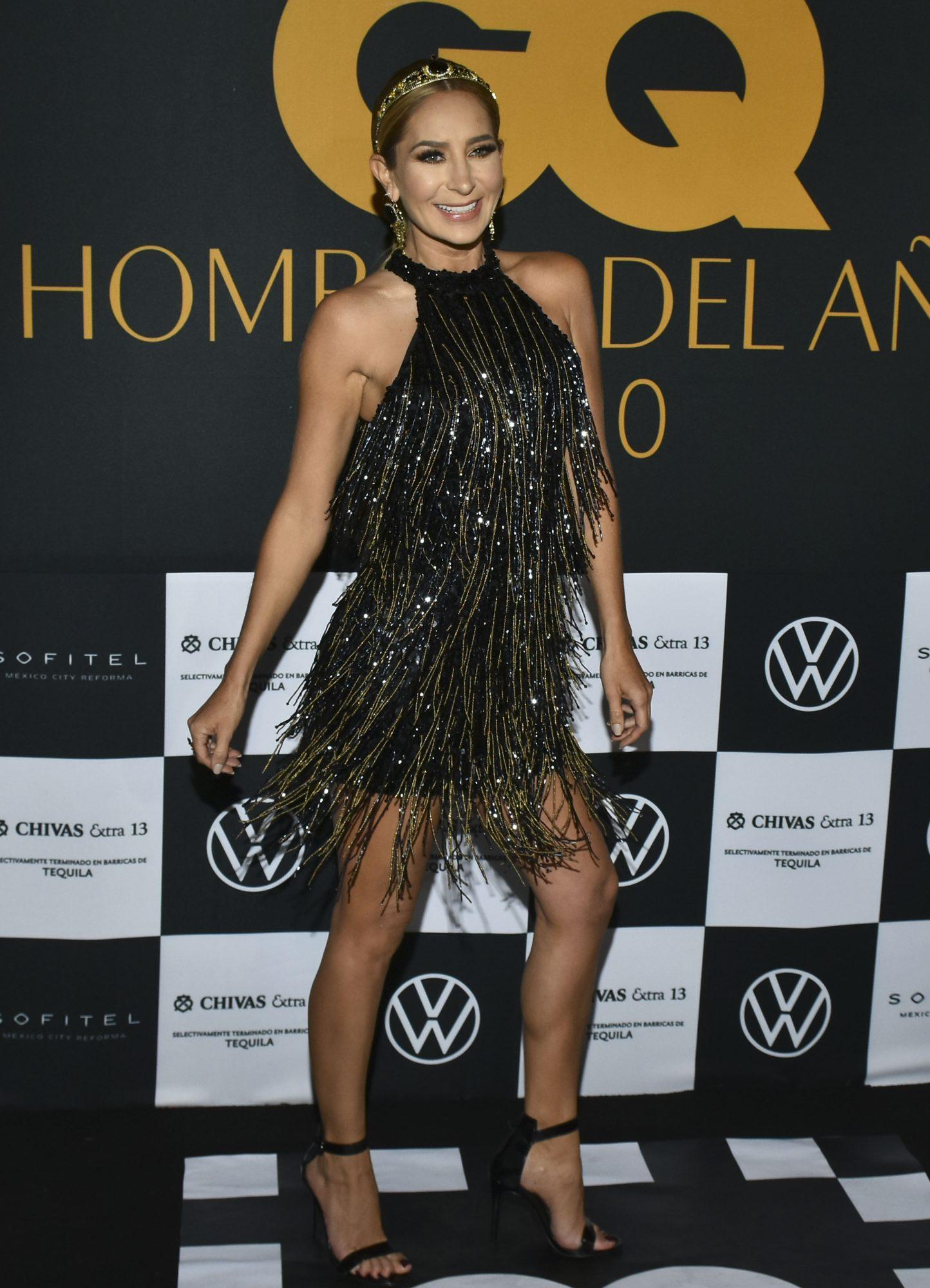Geraldine Bazán, vestido negro, fashion